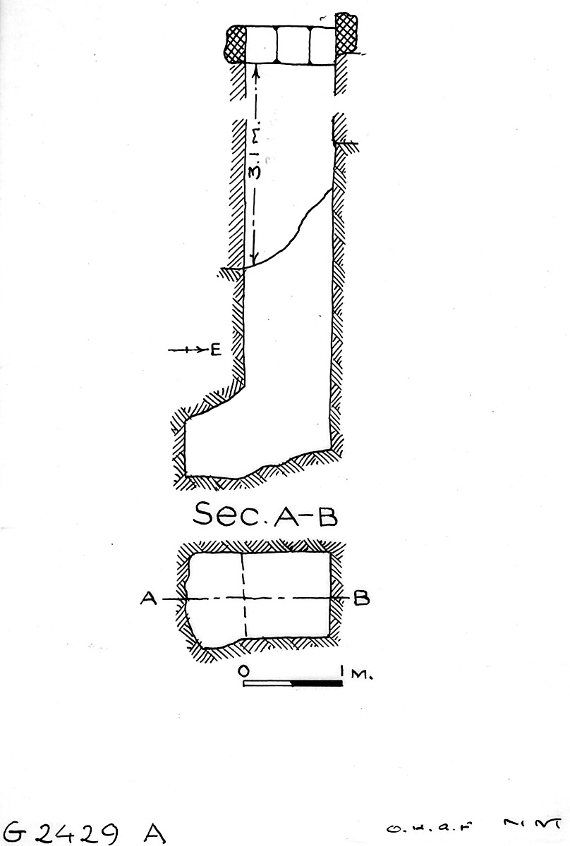 Maps and plans: G 2429, Shaft A
