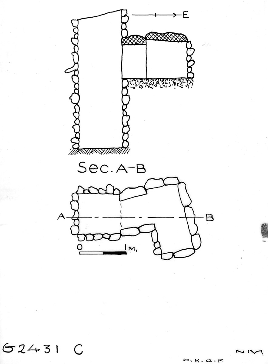 Maps and plans: G 2431, Shaft C