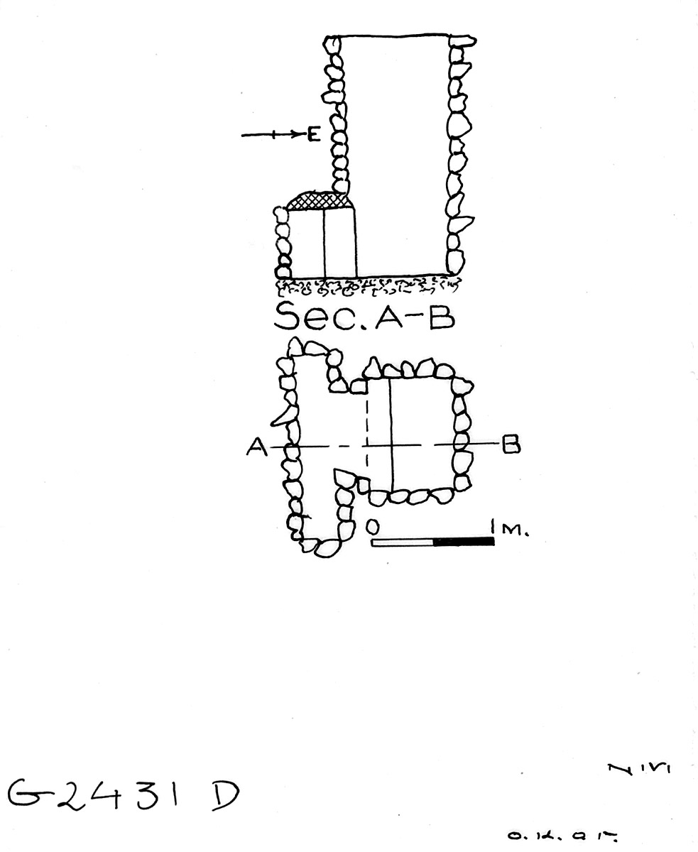 Maps and plans: G 2431, Shaft D