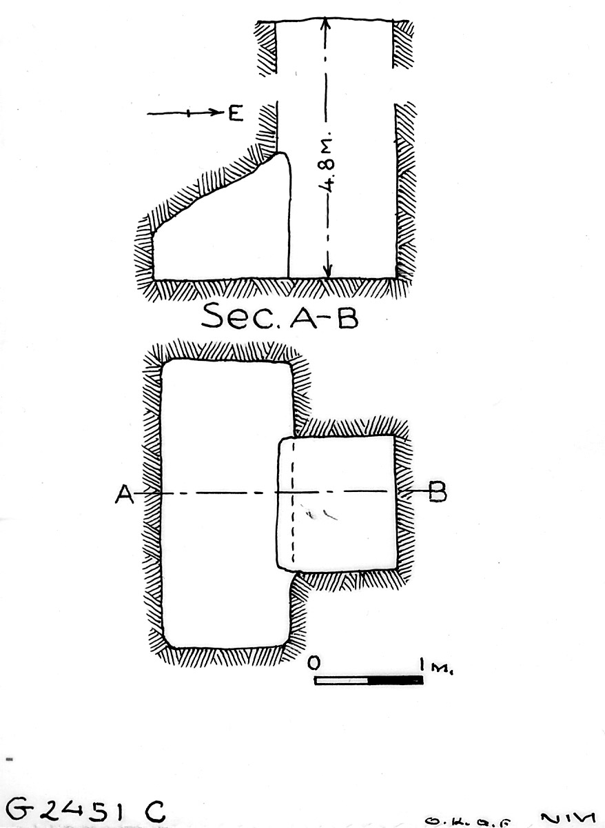 Maps and plans: G 2451, Shaft C