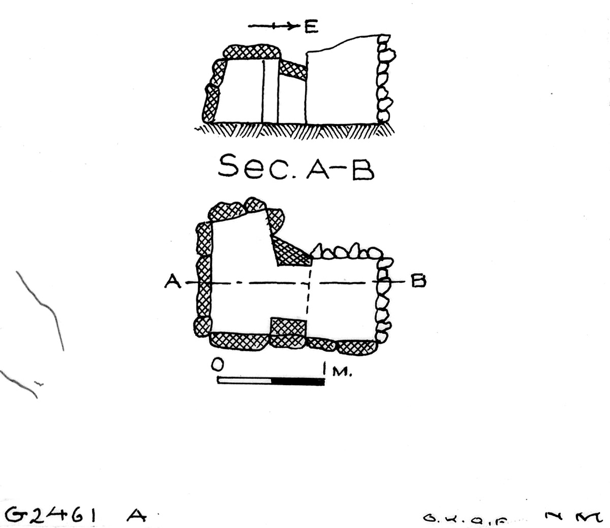 Maps and plans: G 2461, Shaft A