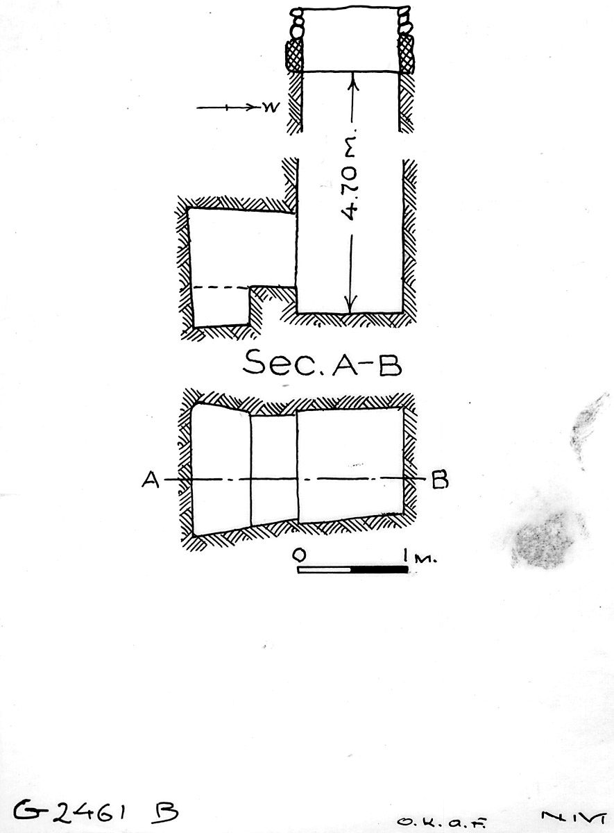Maps and plans: G 2461, Shaft B