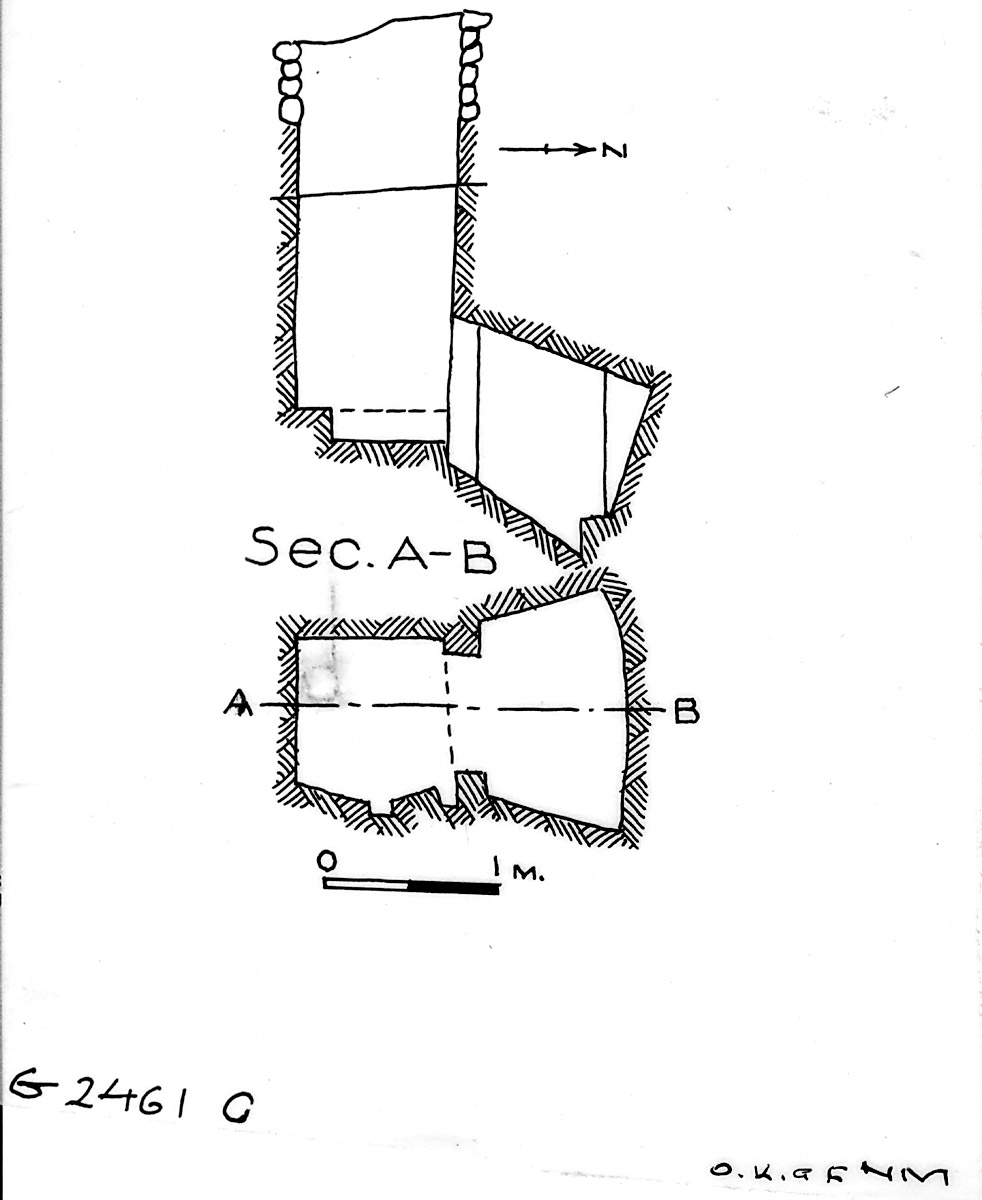 Maps and plans: G 2461, Shaft C