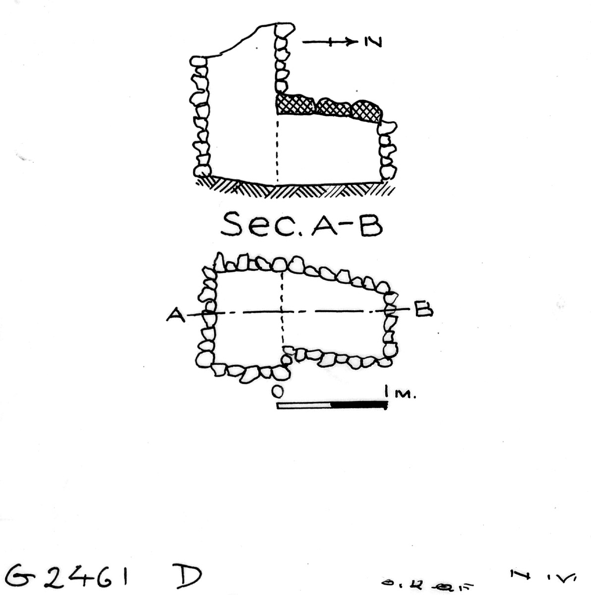 Maps and plans: G 2461, Shaft D