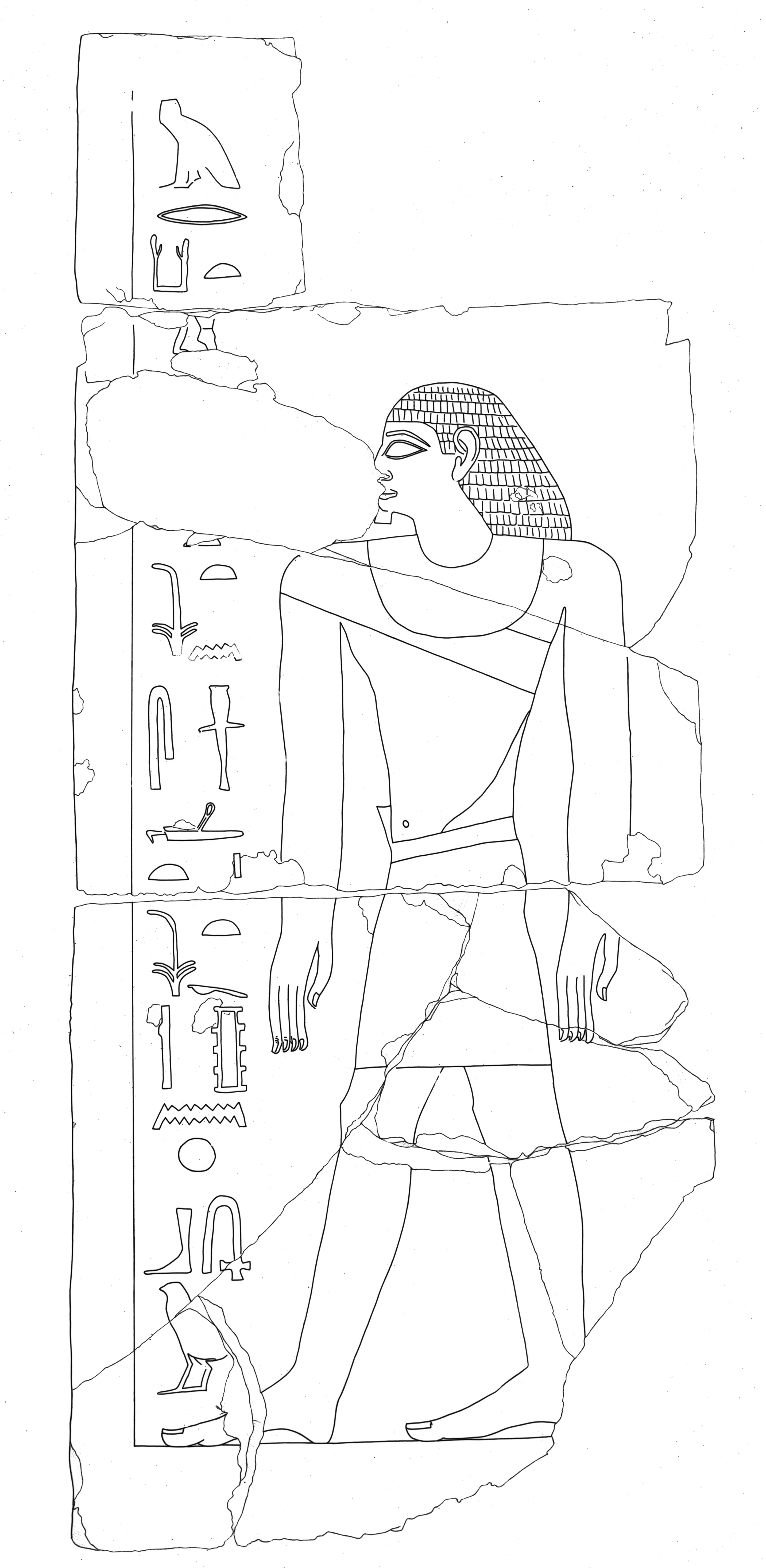 Drawings: G 2381: drawing relief from door jamb (left)