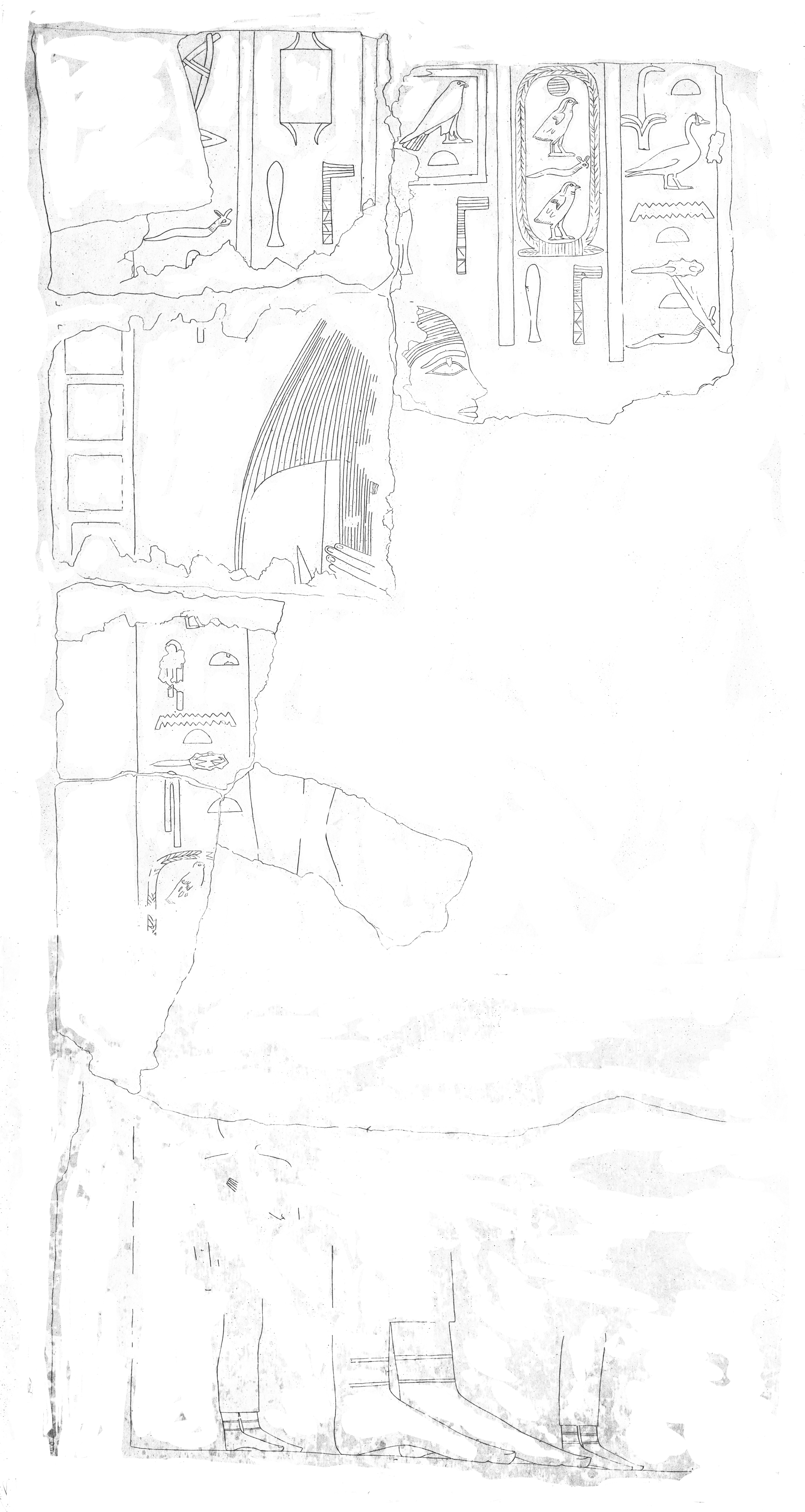 Drawings: G 7650: relief from chapel, E wall