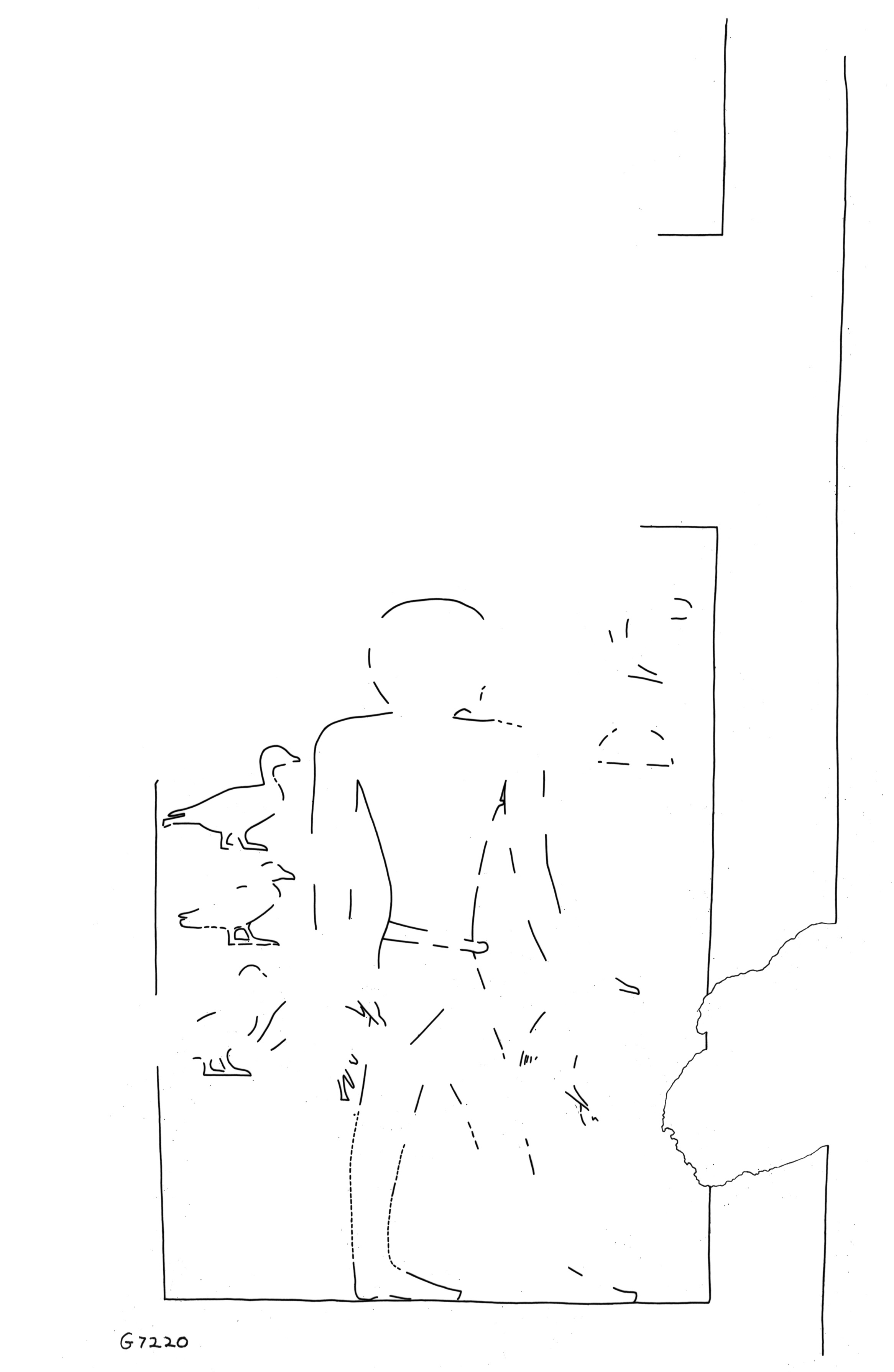 Drawings: G 7220: relief from W wall, S niche