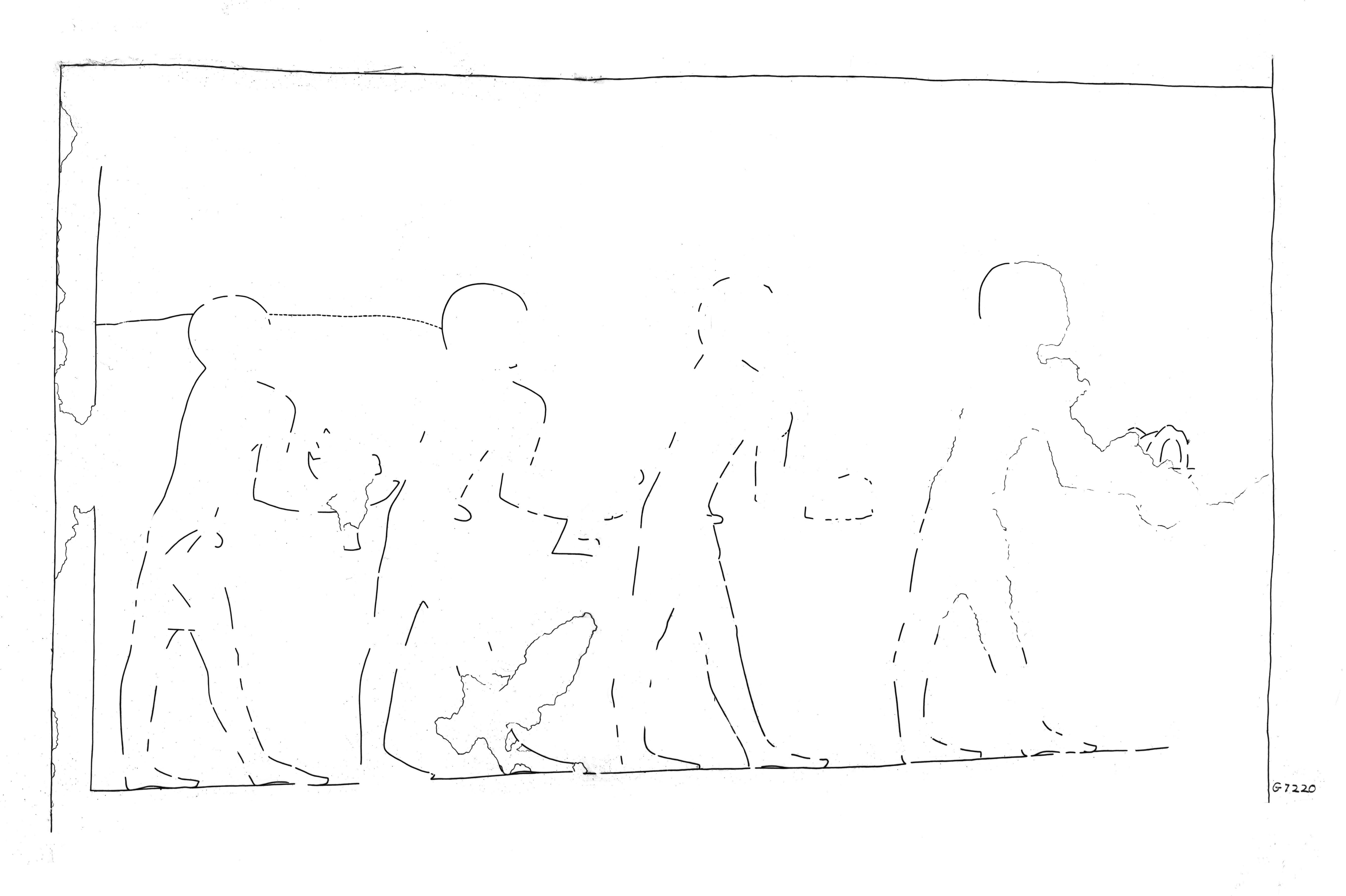 Drawings: G 7220: relief from inner niche