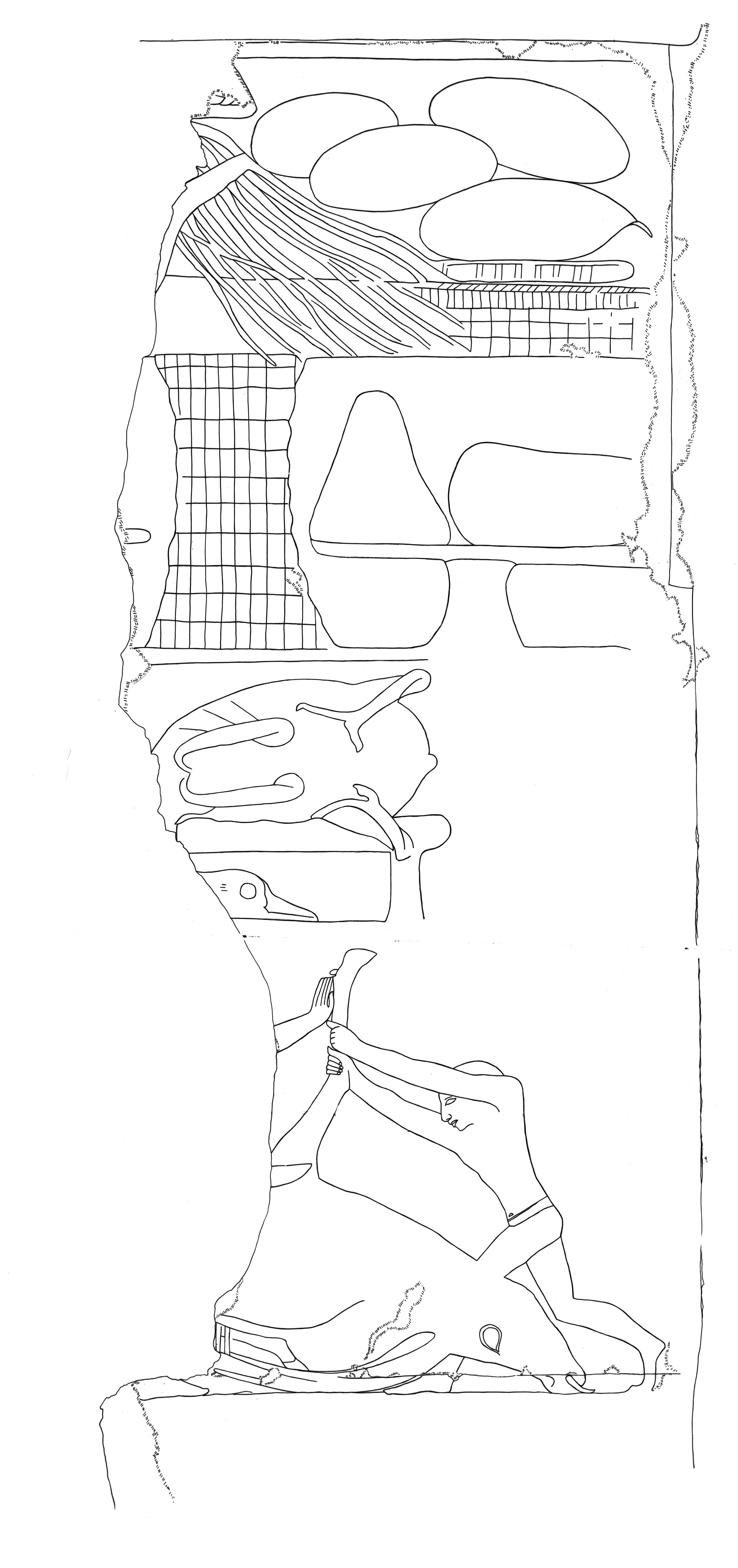 Drawings: G 5110: relief from S wall, offerings