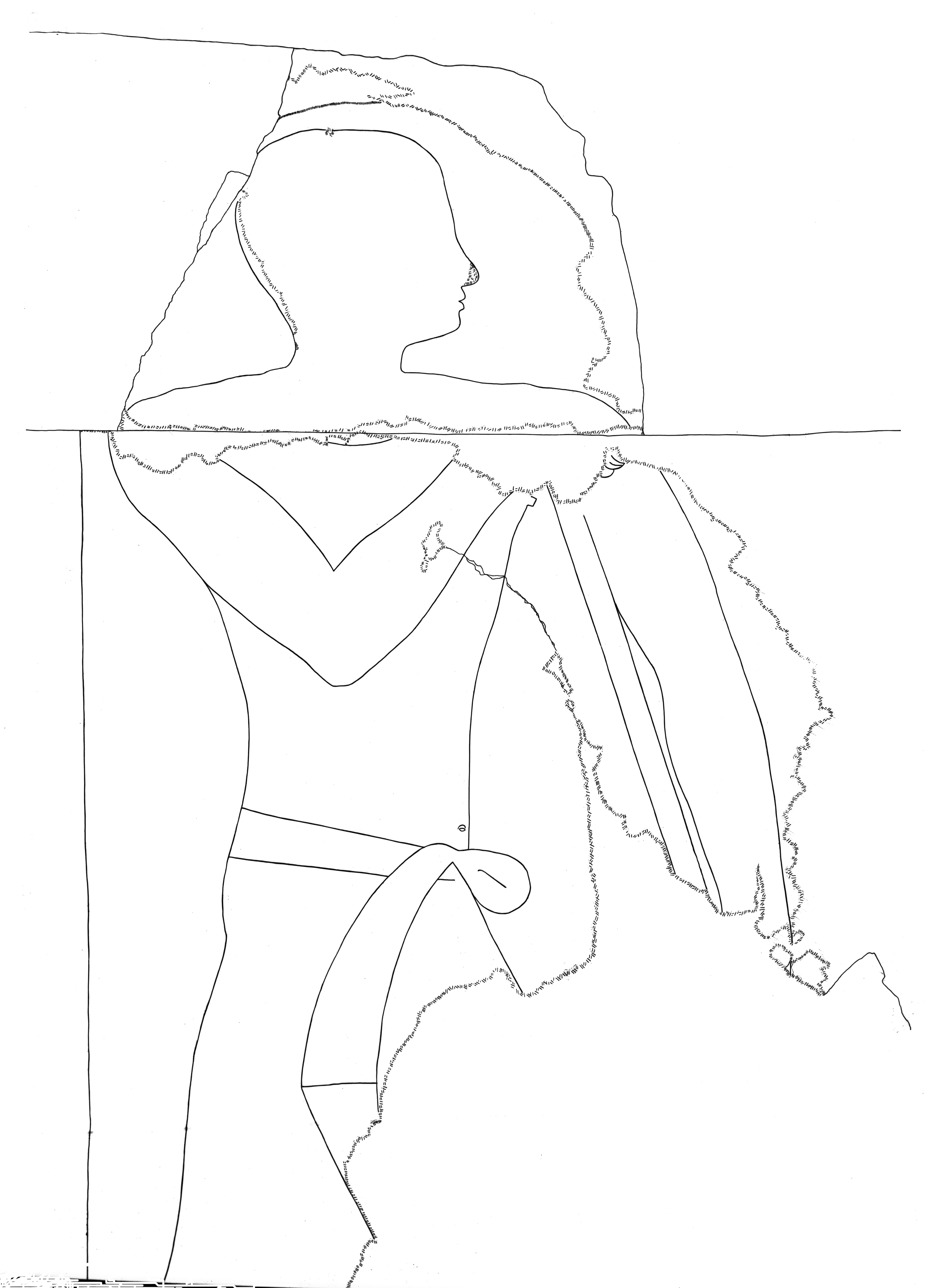 Drawings: G 5110: relief from chapel, S wall