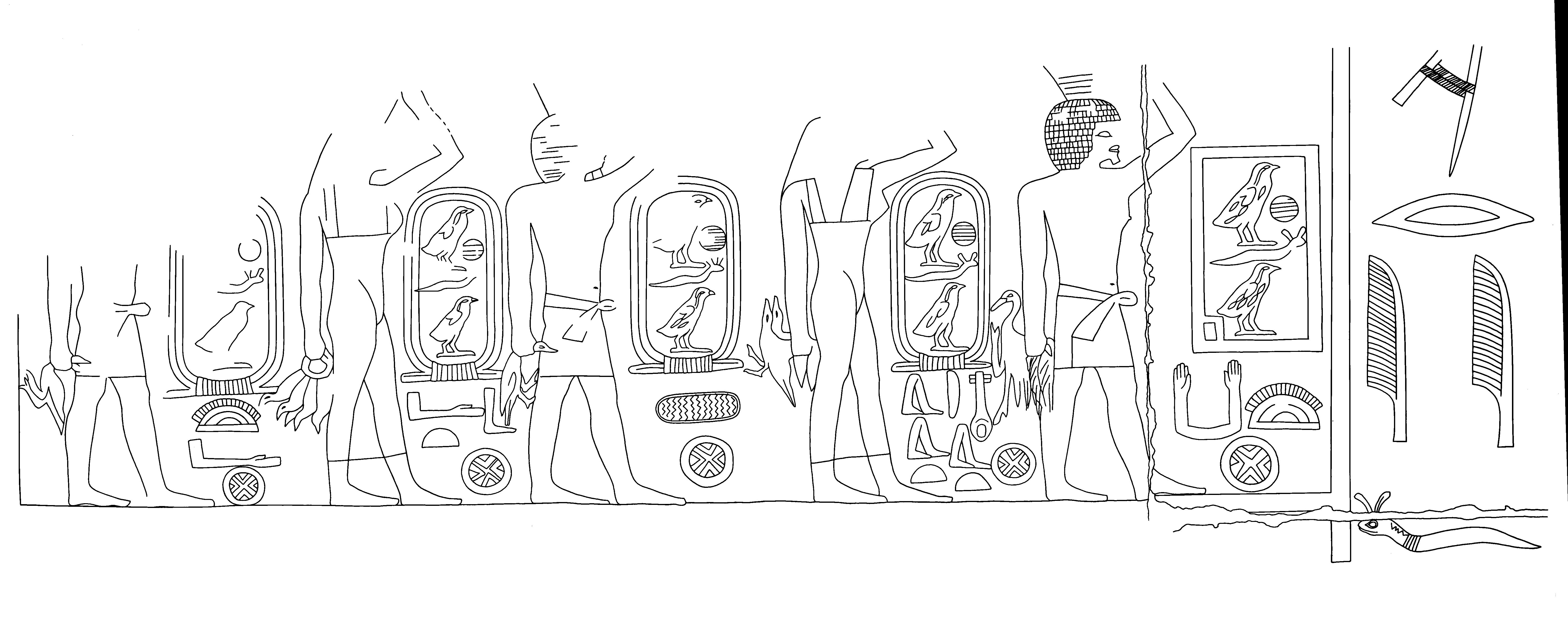 Drawings: G 7140: relief from chapel, W wall