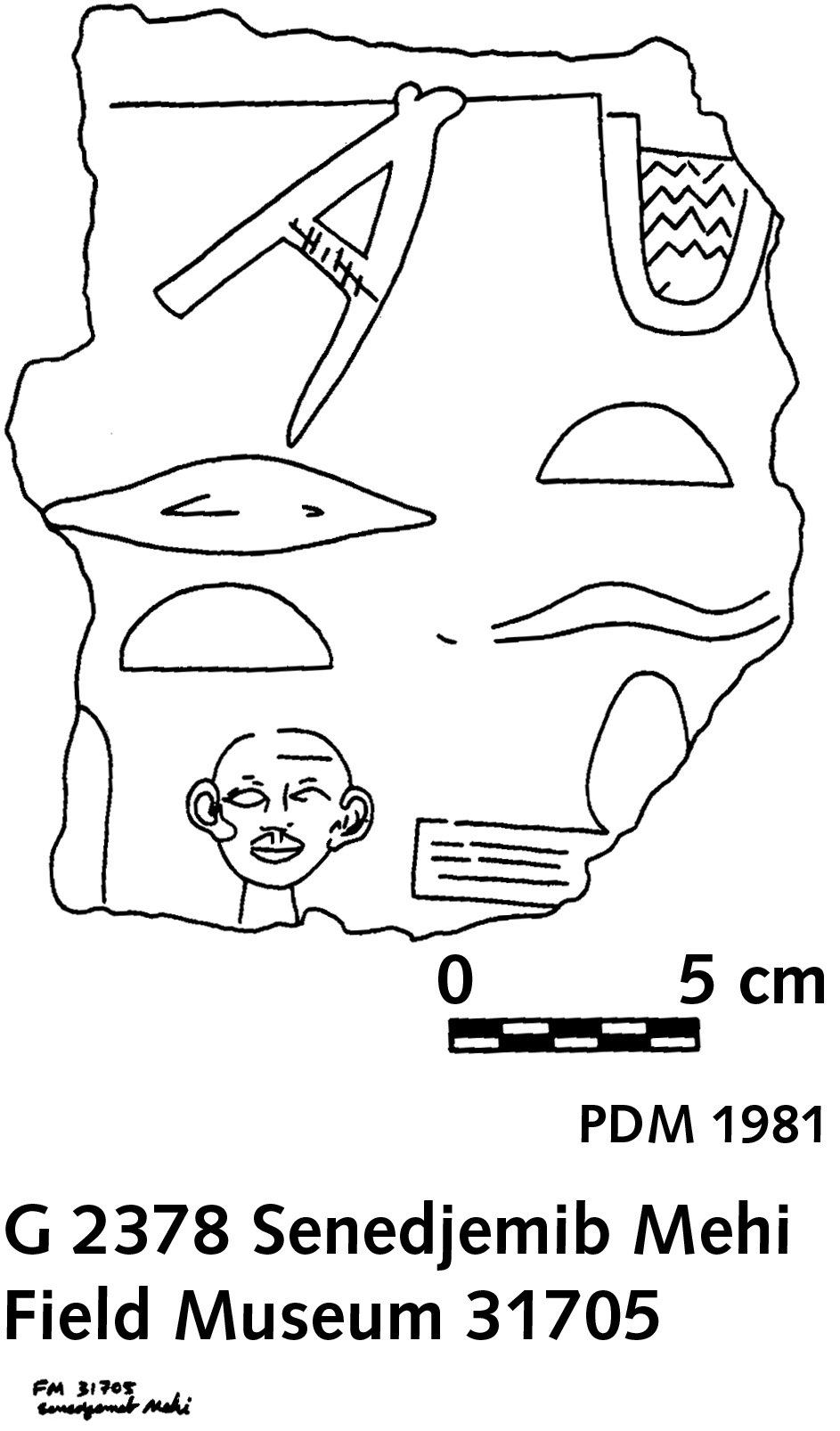 Drawings: G 2378: relief fragment