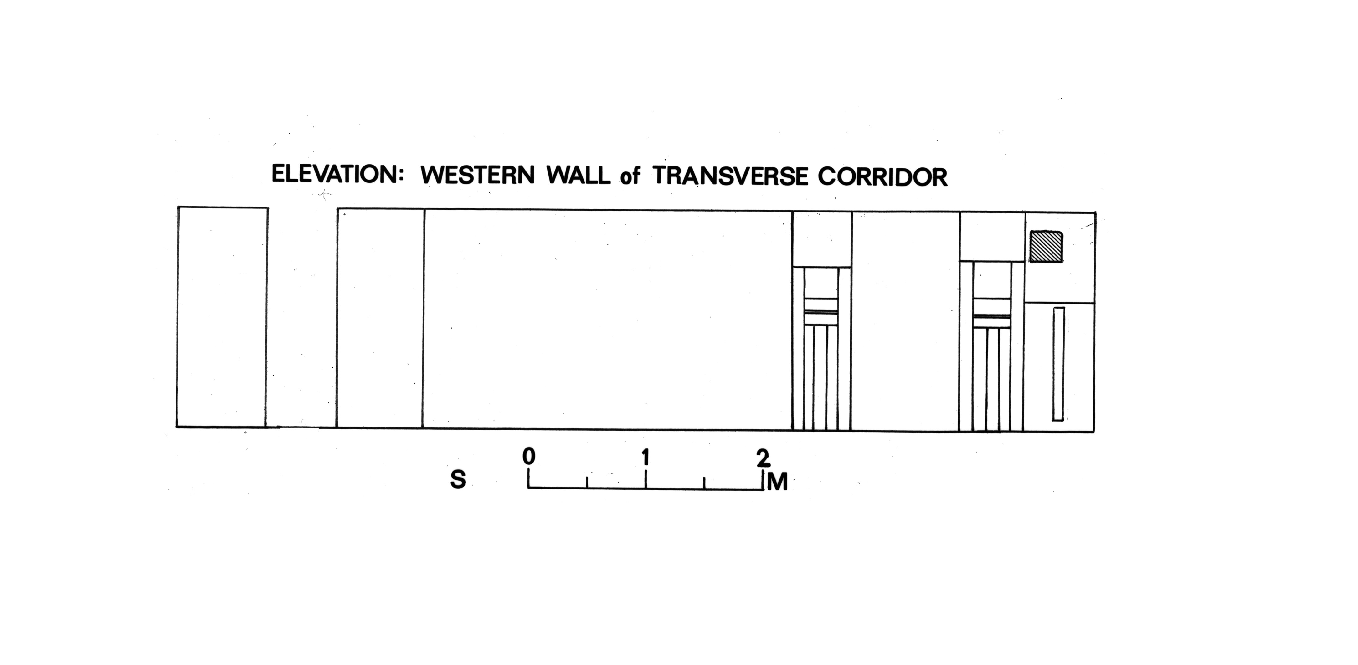 Maps and plans: D 20, Plan of transverse corridor