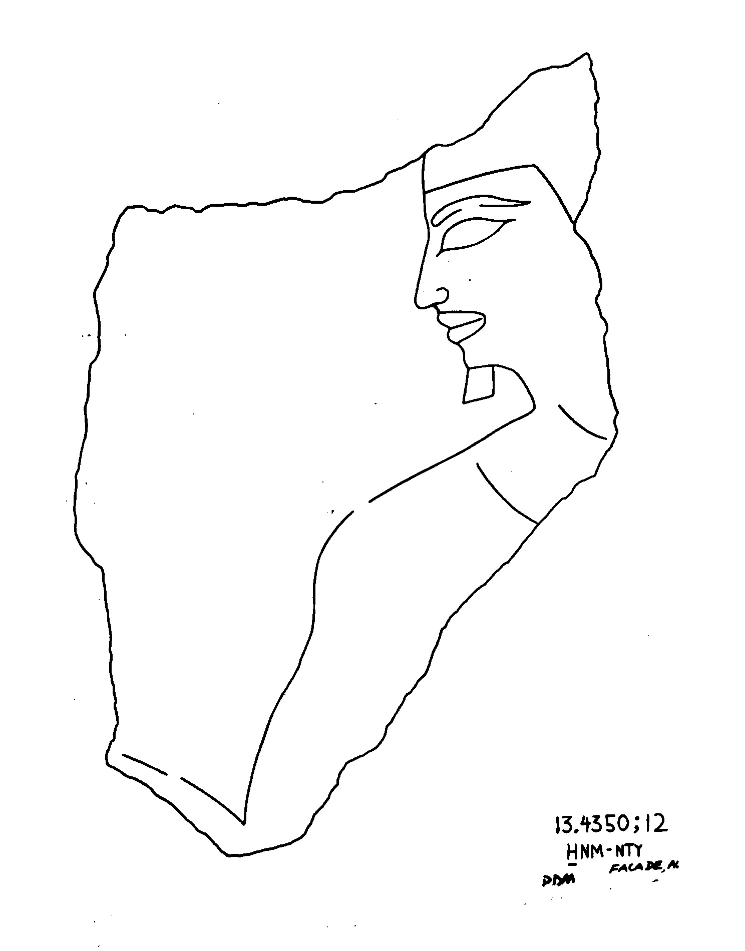 Drawings: G 2382 (originally G 2374): relief fragment