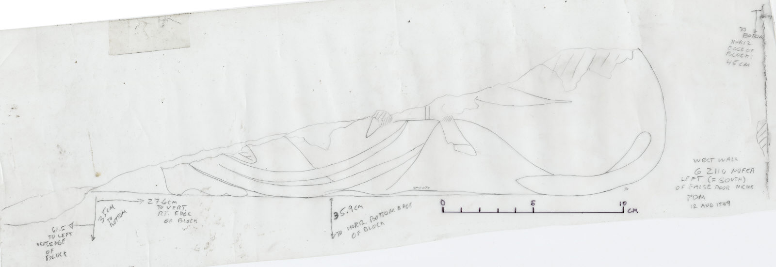 Drawings: G 2110: relief from W wall