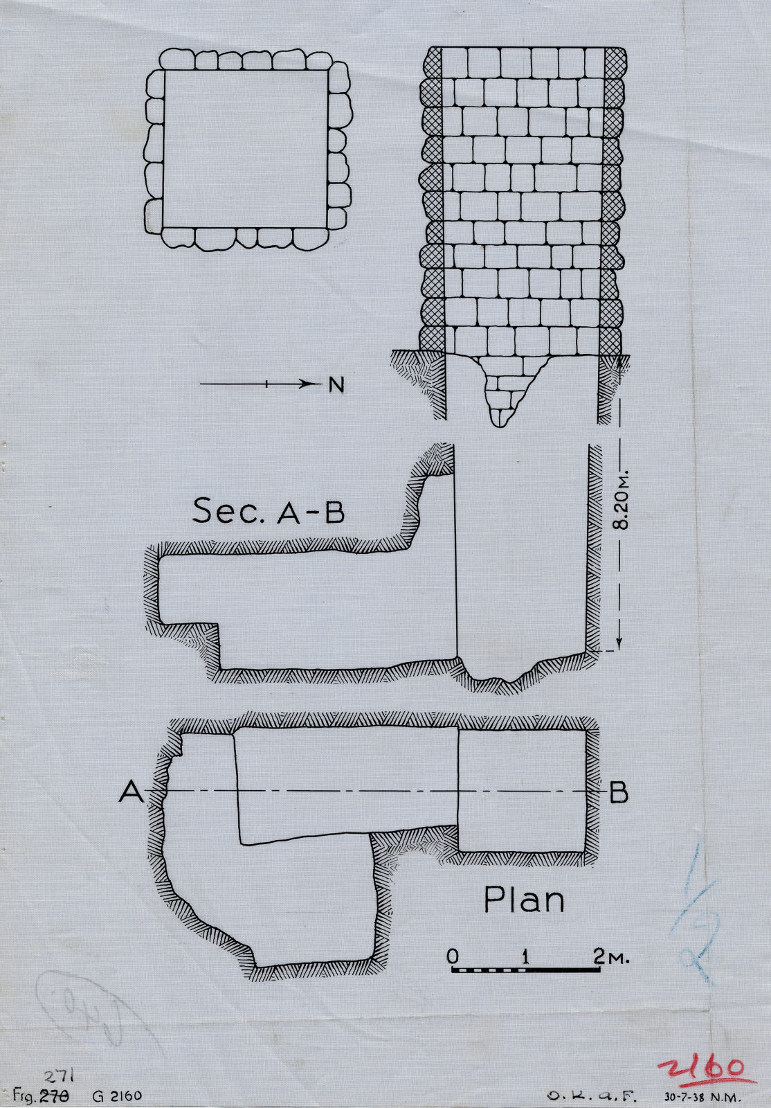 Maps and plans: G 2160, Shaft A