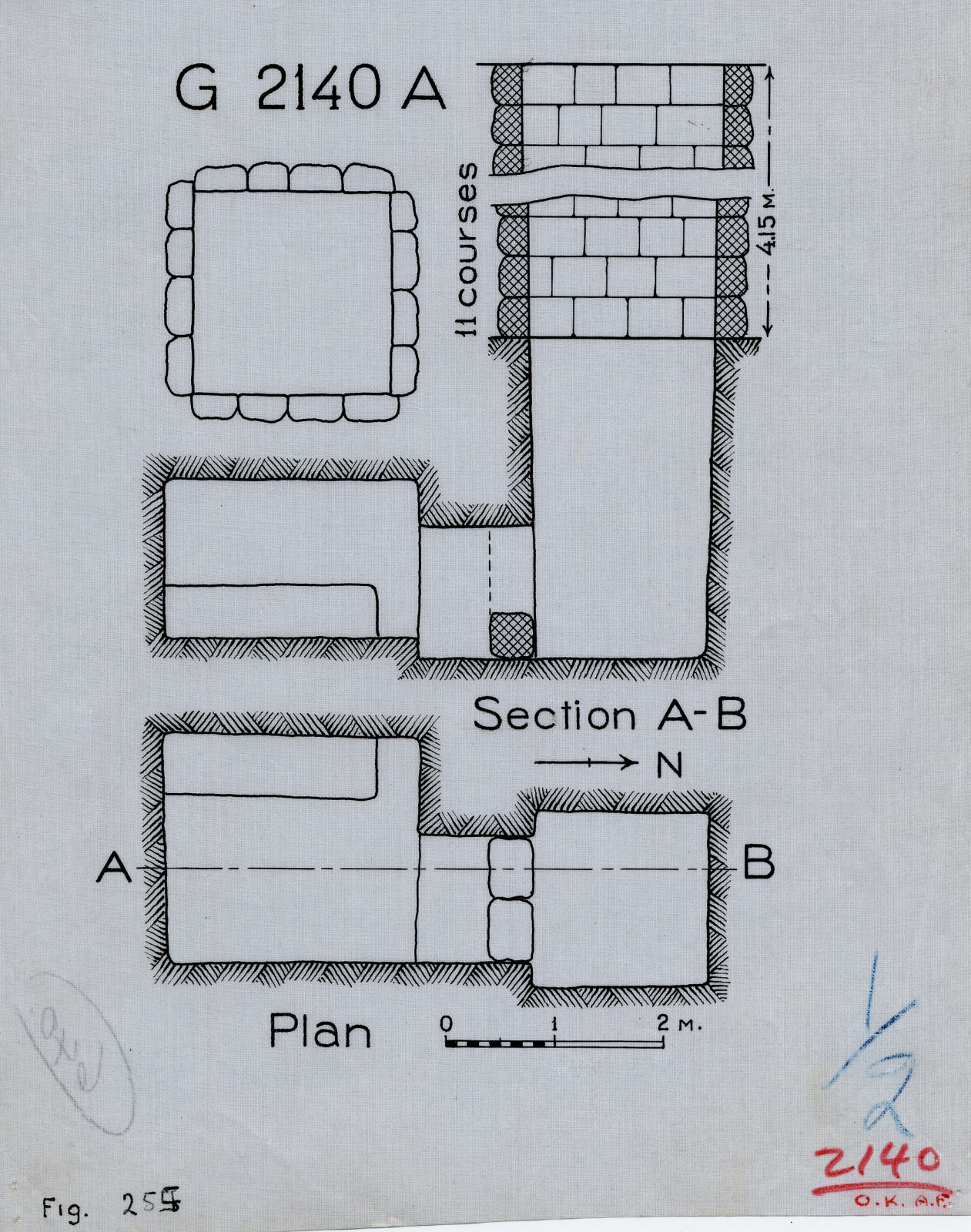 Maps and plans: G 2140, Shaft A