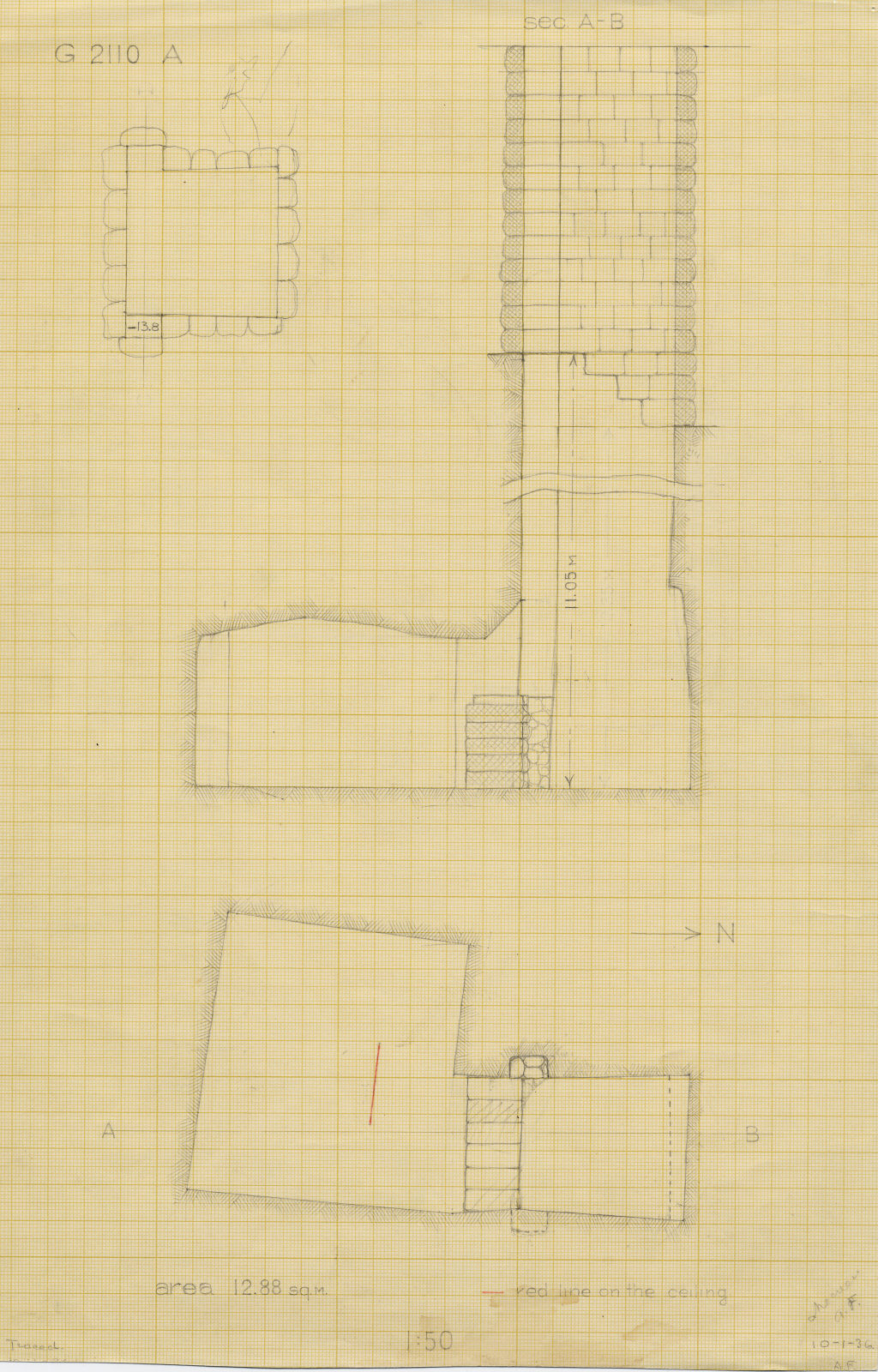 Maps and plans: G 2110, Shaft A