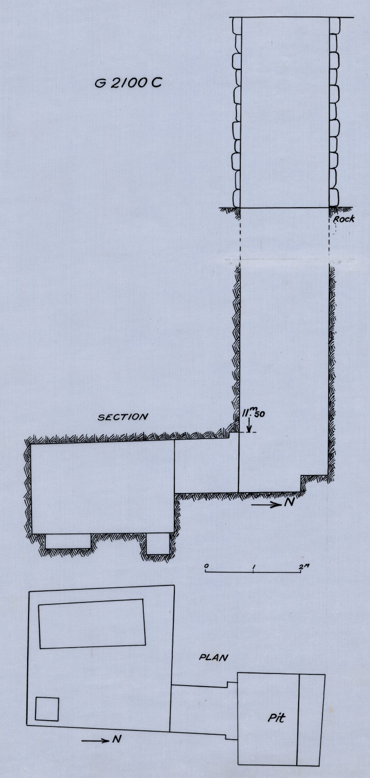 Maps and plans: G 2100-I, Shaft C