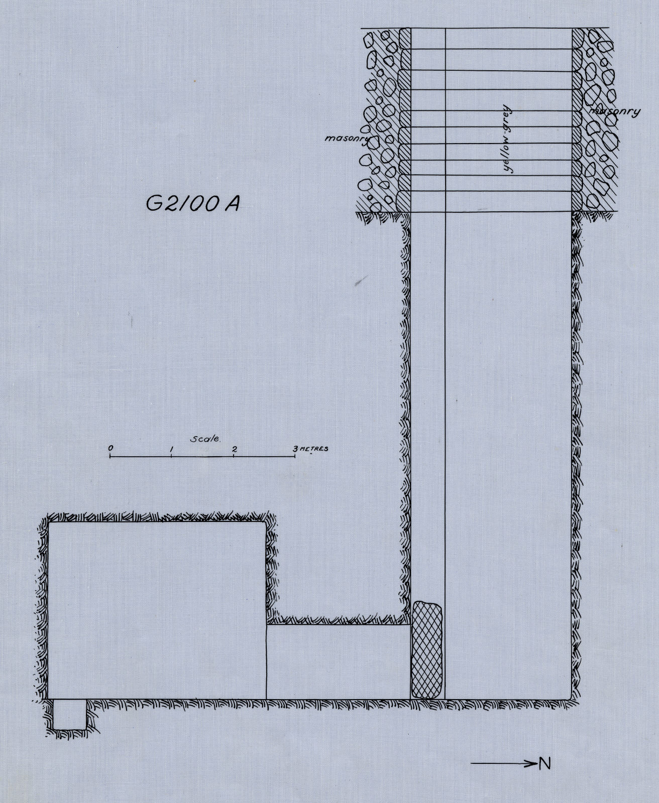 Maps and plans: G 2100, Shaft A