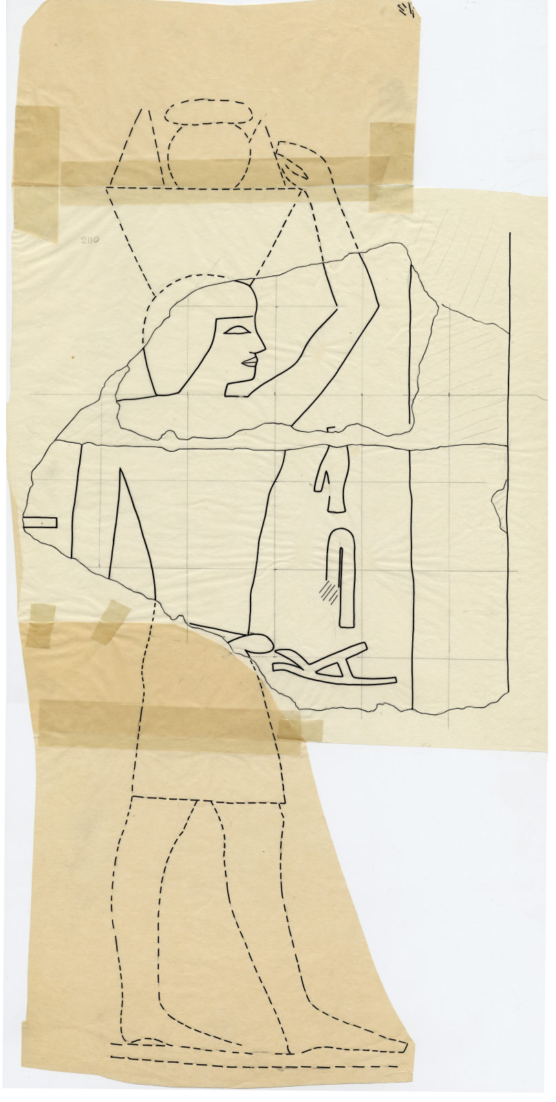 Drawings: G 2110: relief from E wall
