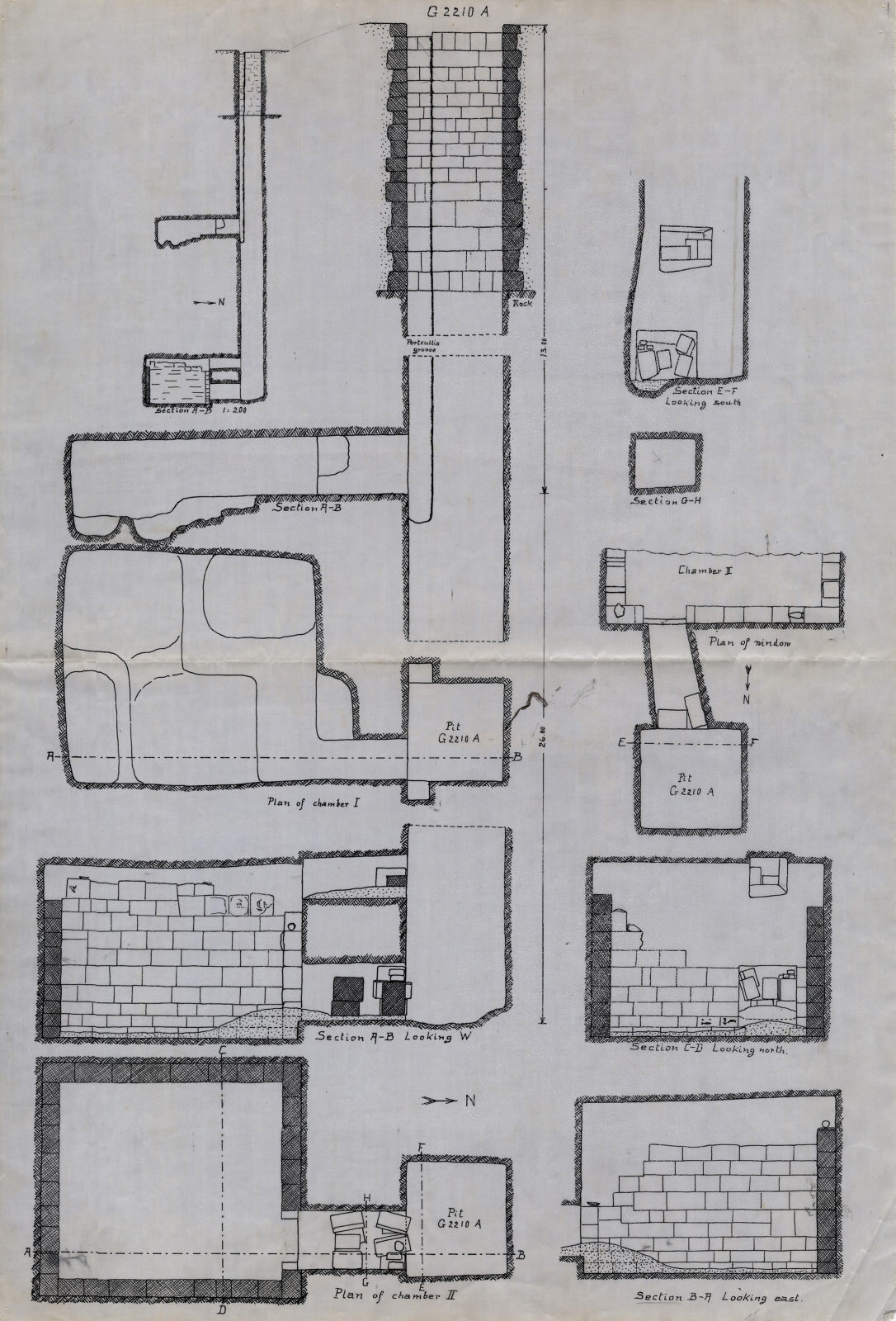 Maps and plans: G 2210, Shaft A