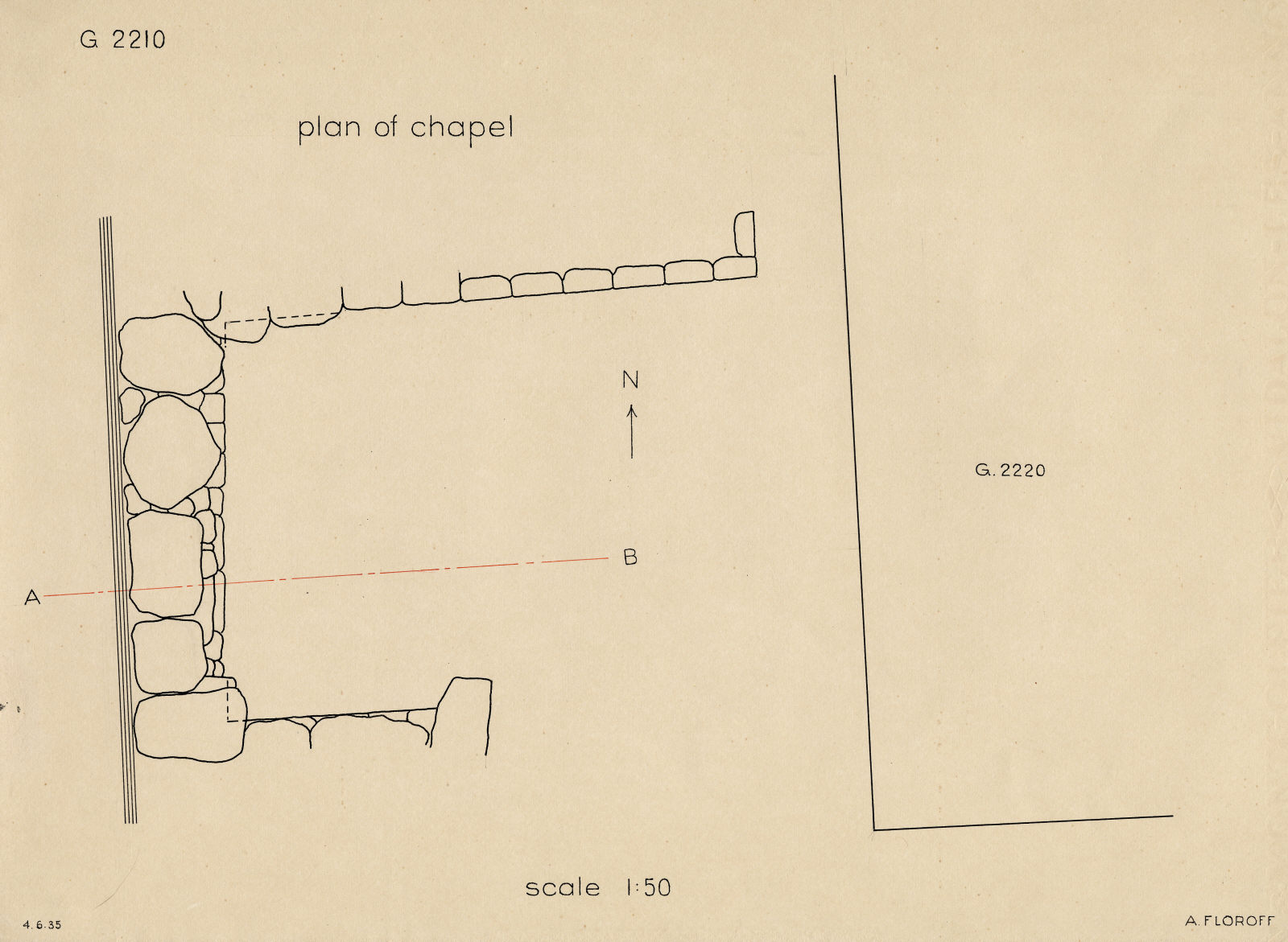 Maps and plans: G 2210, Plan of chapel