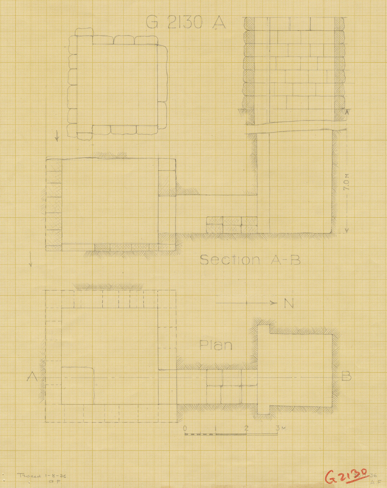 Maps and plans: G 2130, Shaft A