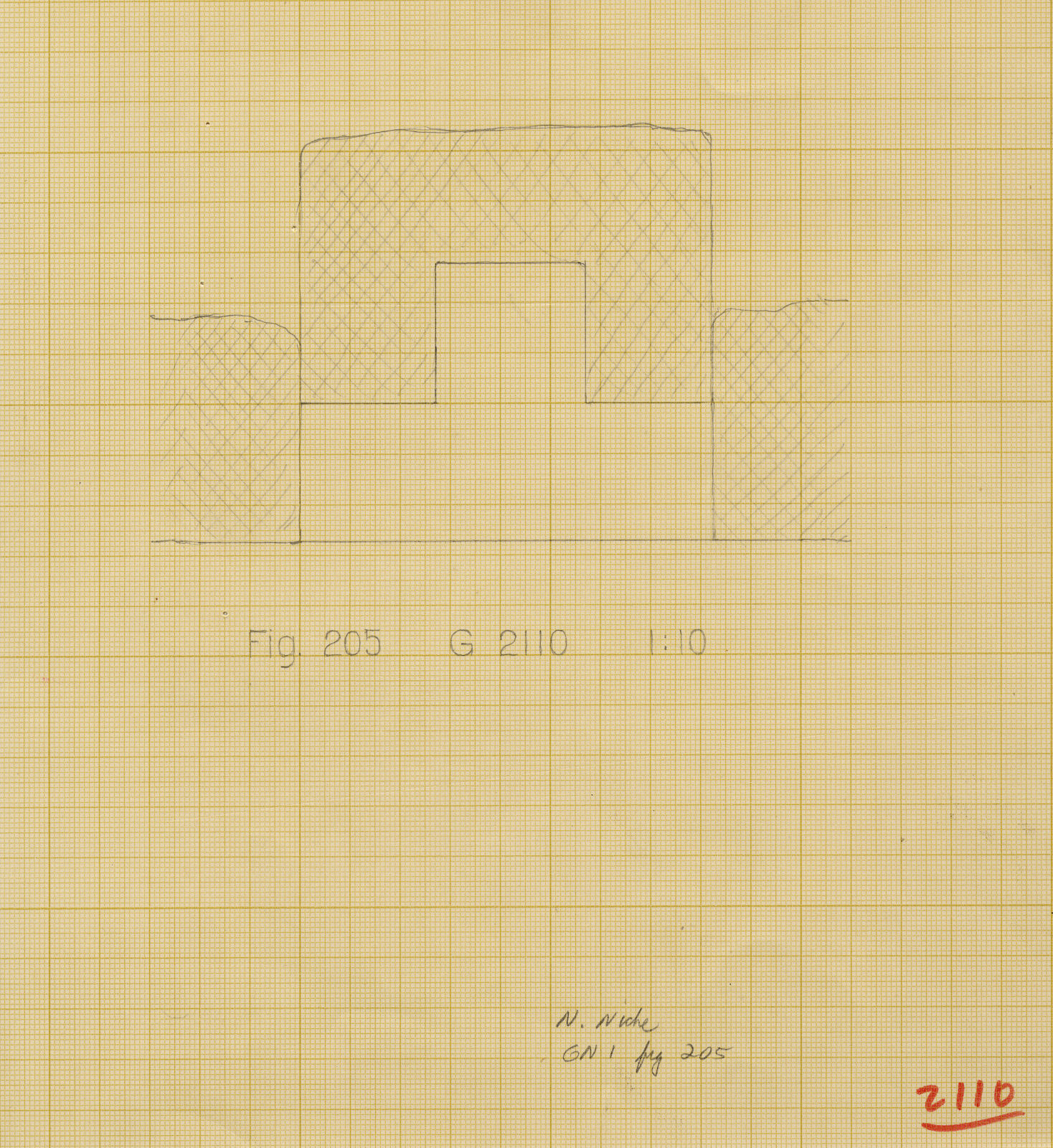 Maps and plans: G 2110, Plan of N niche