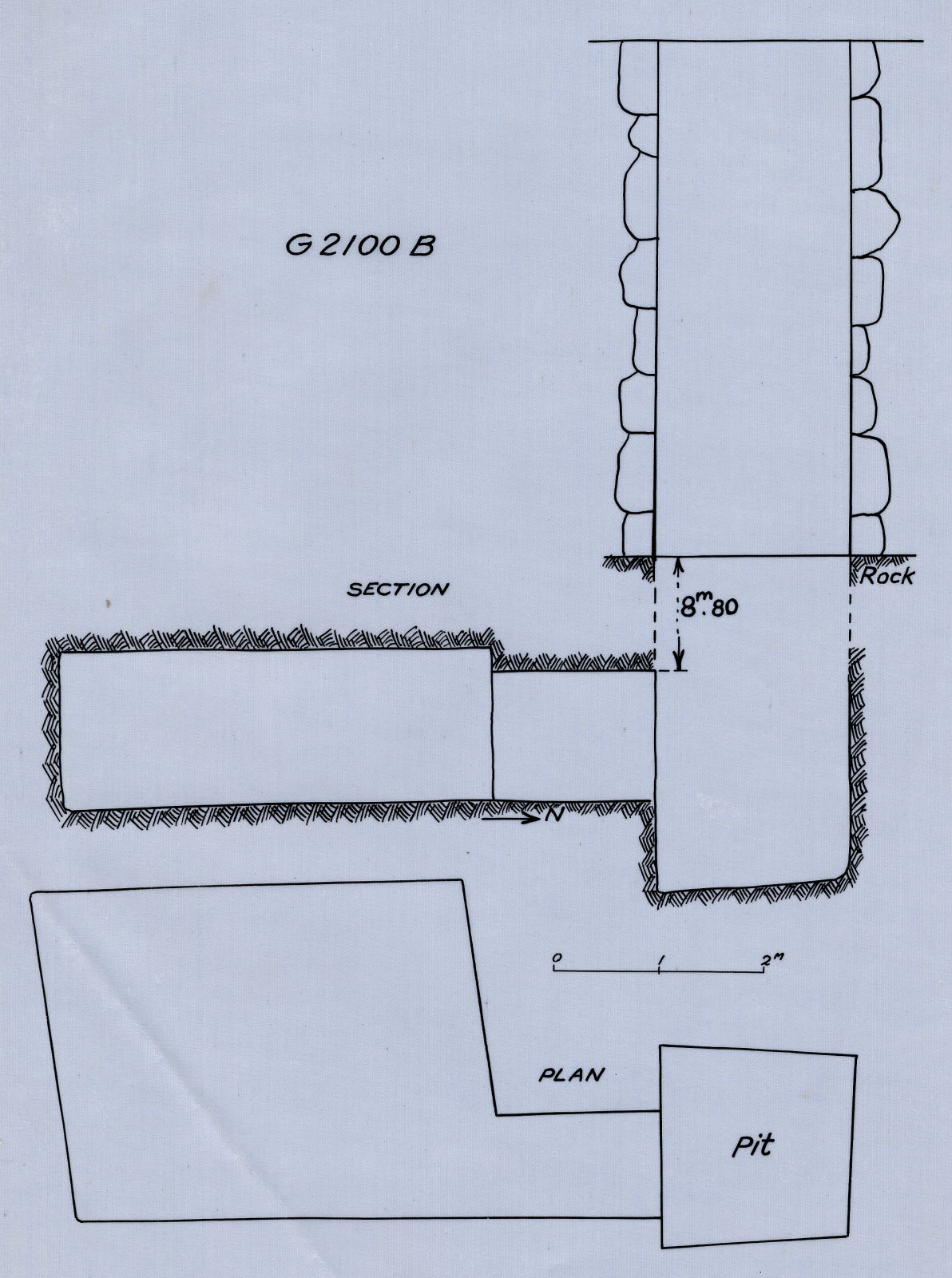 Maps and plans: G 2100-I, Shaft B