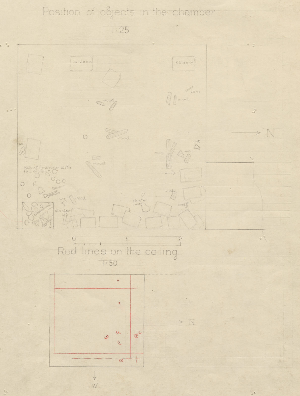 Maps and plans: G 2100, shaft A, Plan of burial chamber
