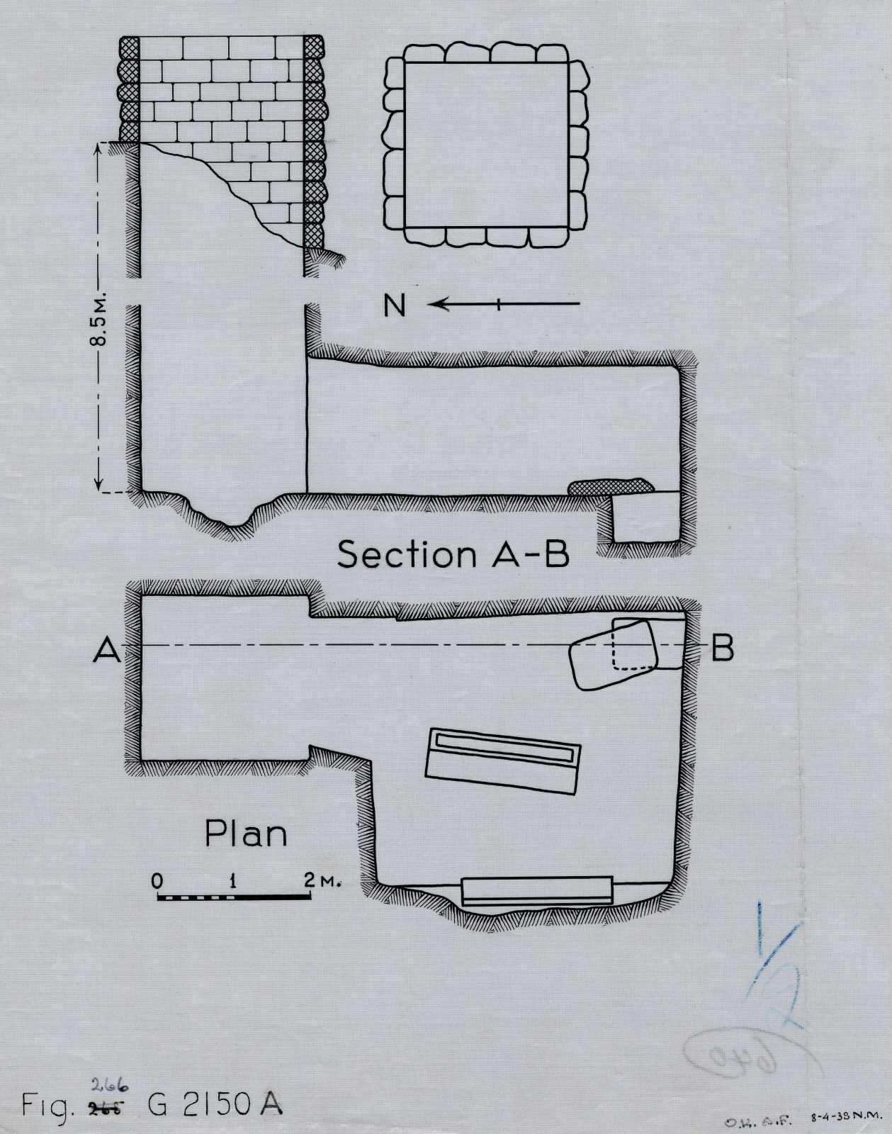 Maps and plans: G 2150, Shaft A