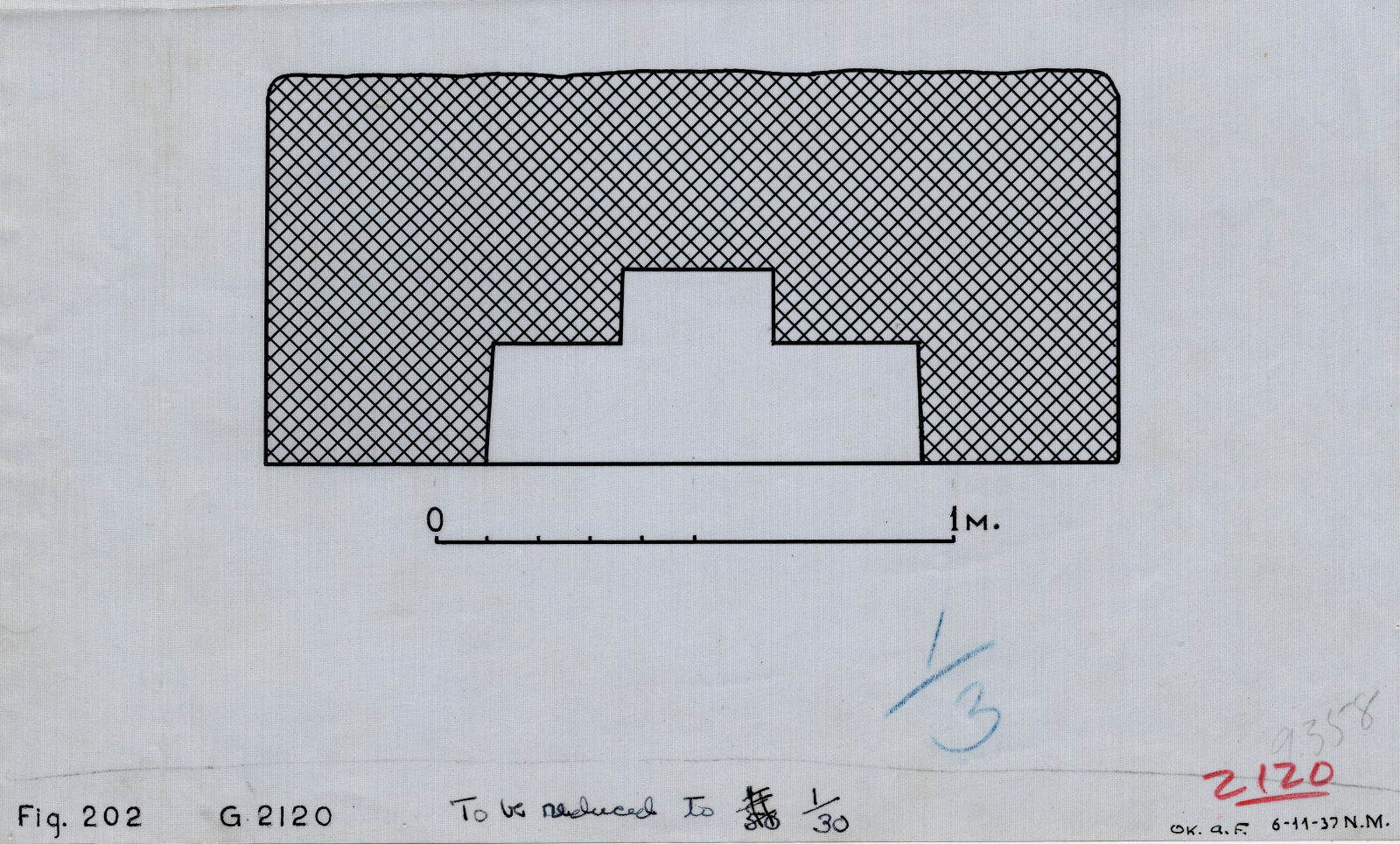 Maps and plans: G 2120, Plan of niche