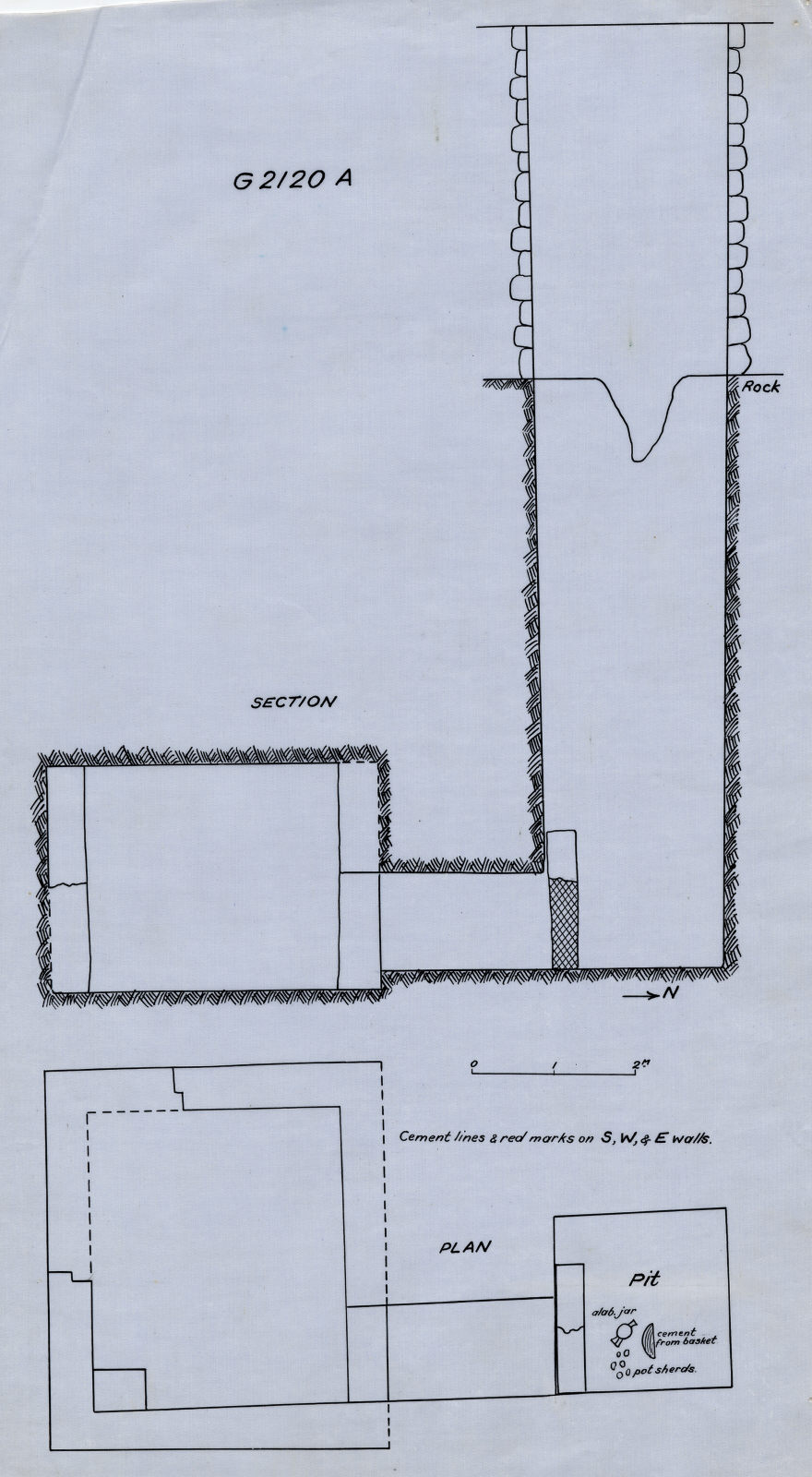 Maps and plans: G 2120, Shaft A