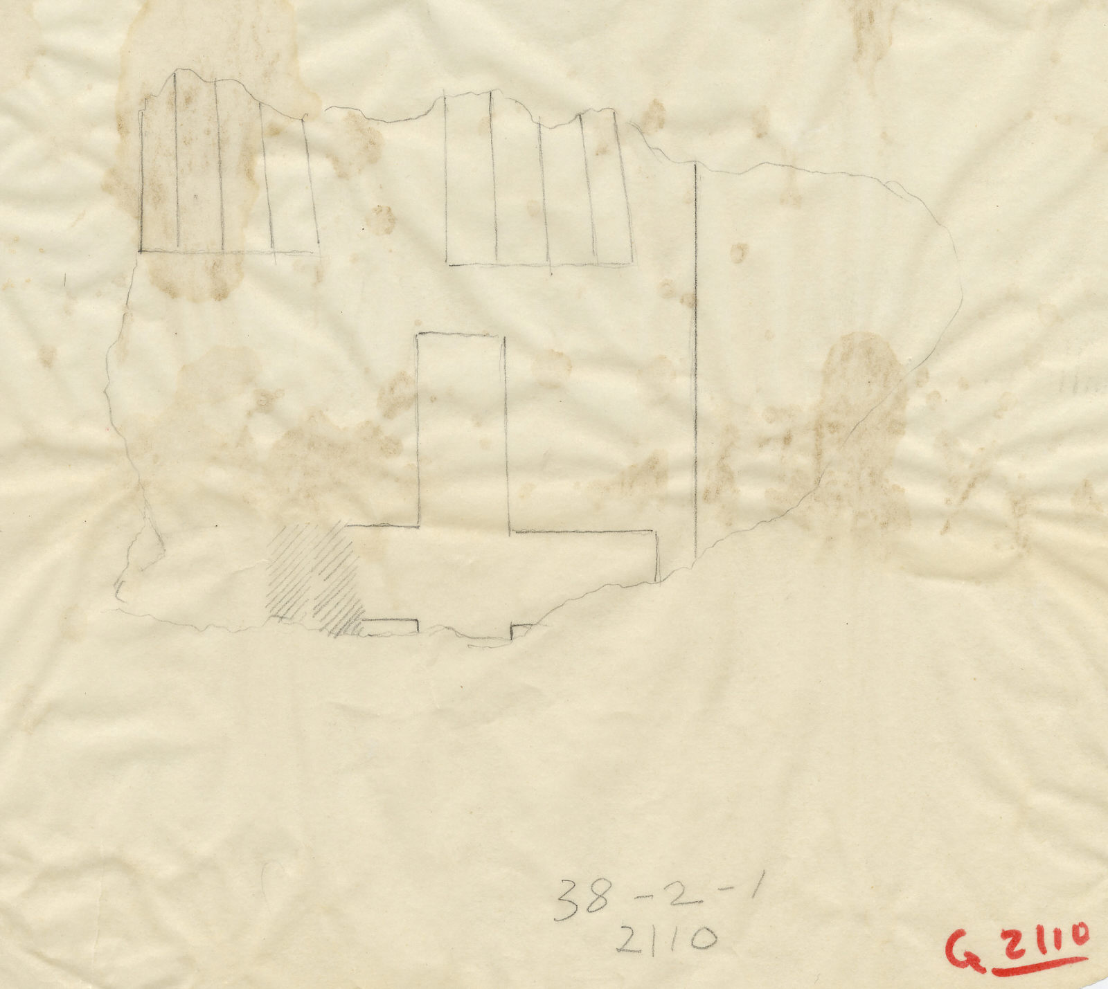 Drawings: G 2110: relief fragment