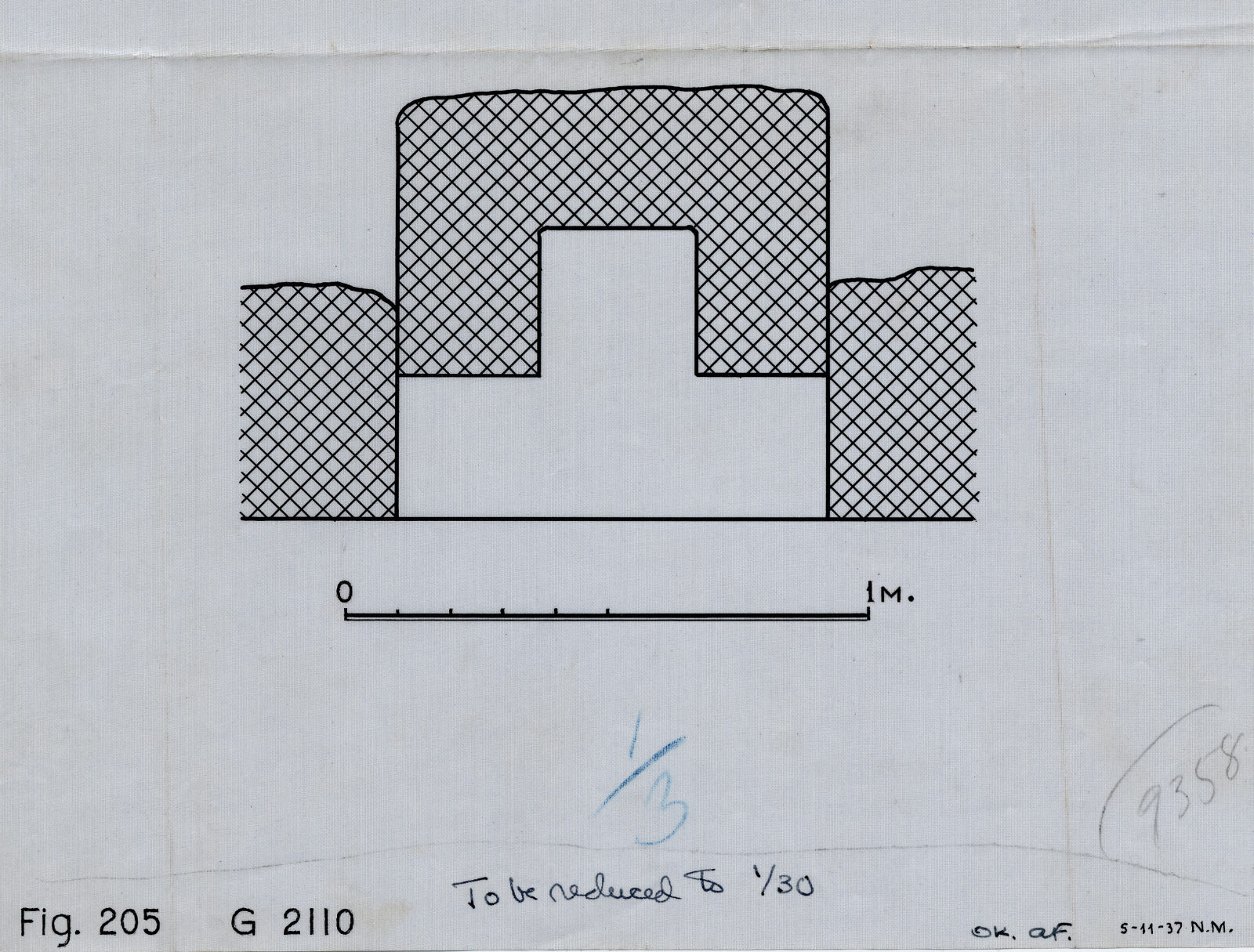 Maps and plans: G 2110, Plan of niche