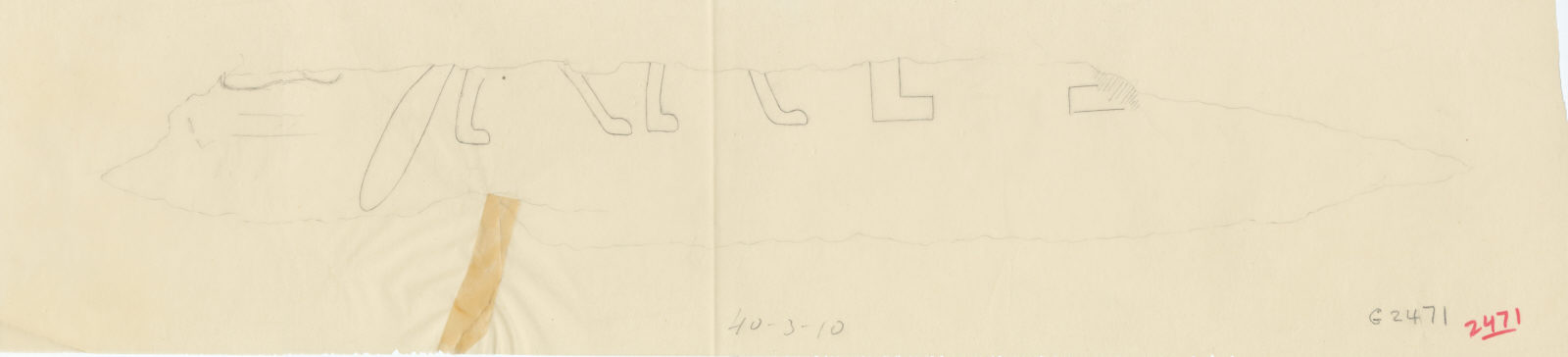 Drawings: G 2471 (N of): relief fragment
