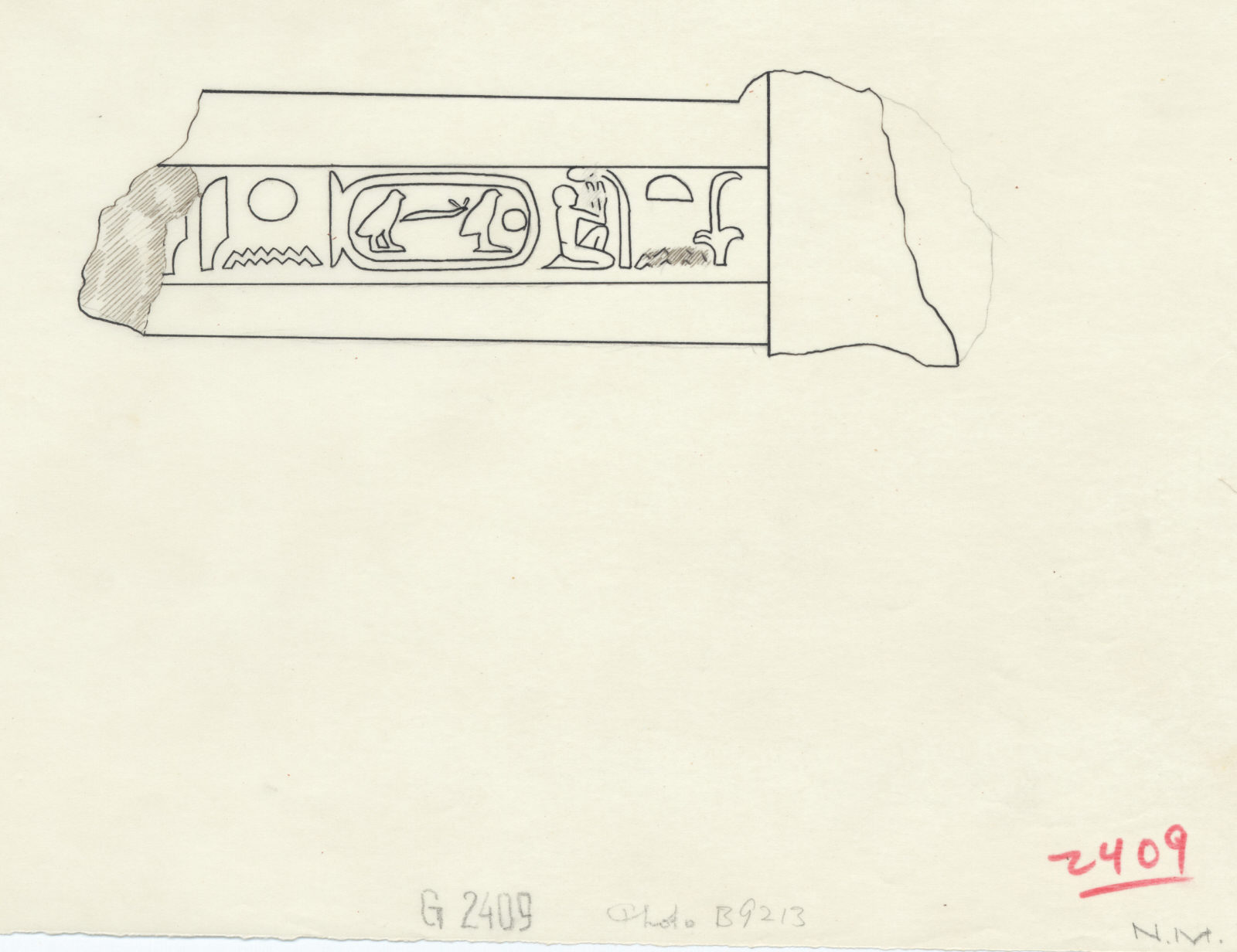 Drawings: lintel of Khuienkhufu from corridor between G 2409 and G 2419