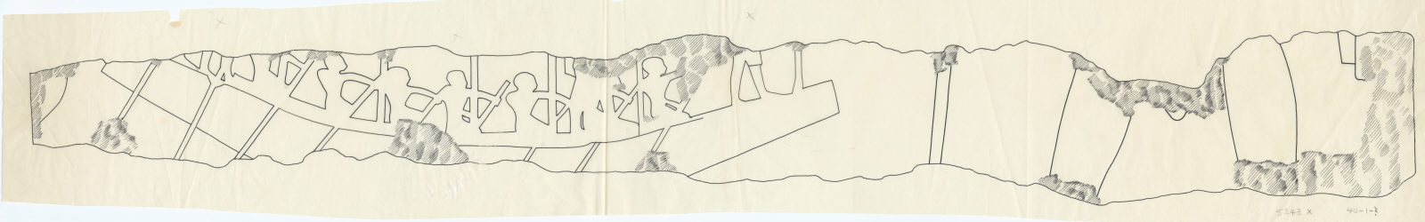 Drawings: G 5243, Shaft  X: fragment of relief