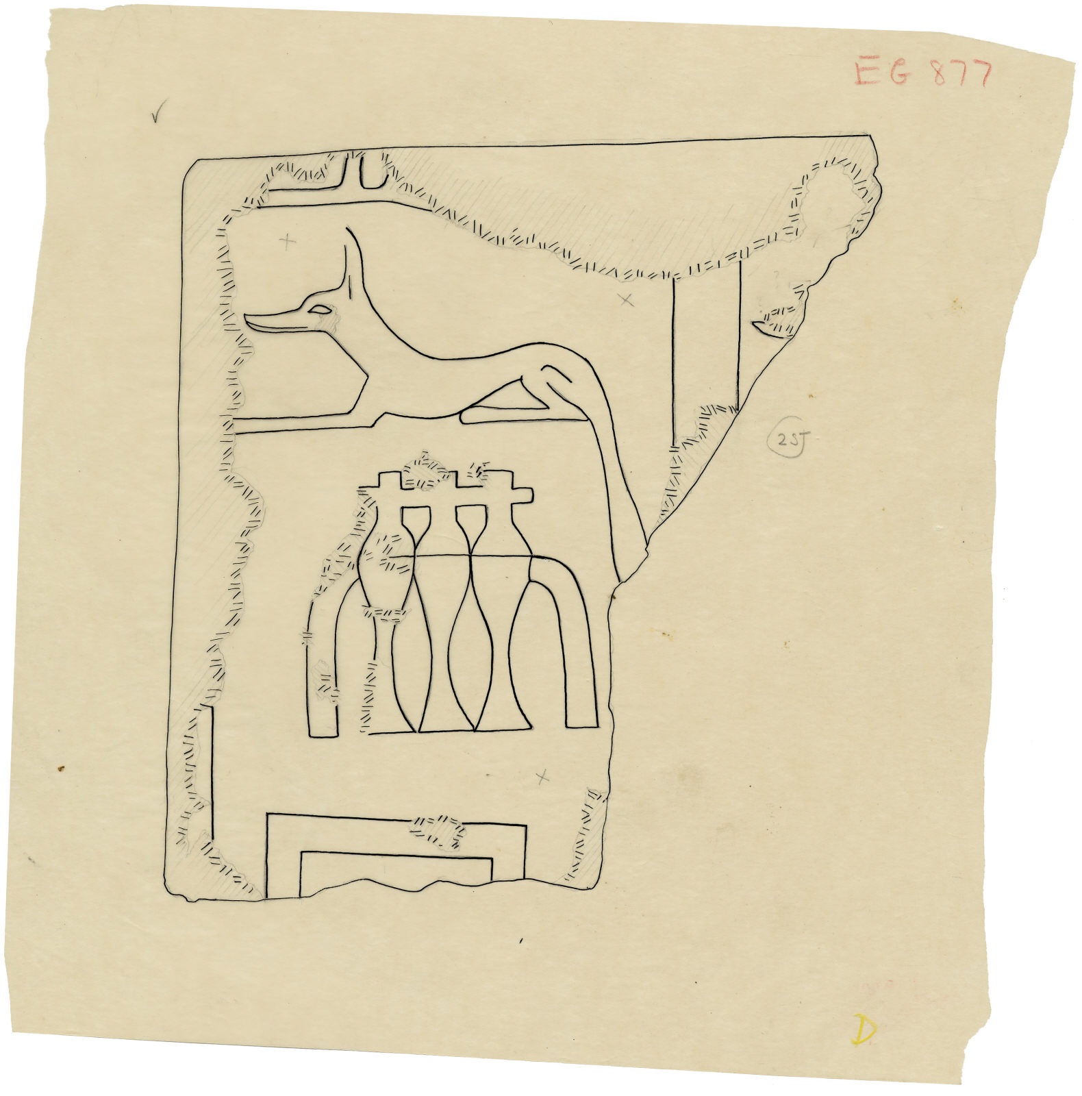 Drawings: relief fragment from between G 5110, G 5220, G 5230