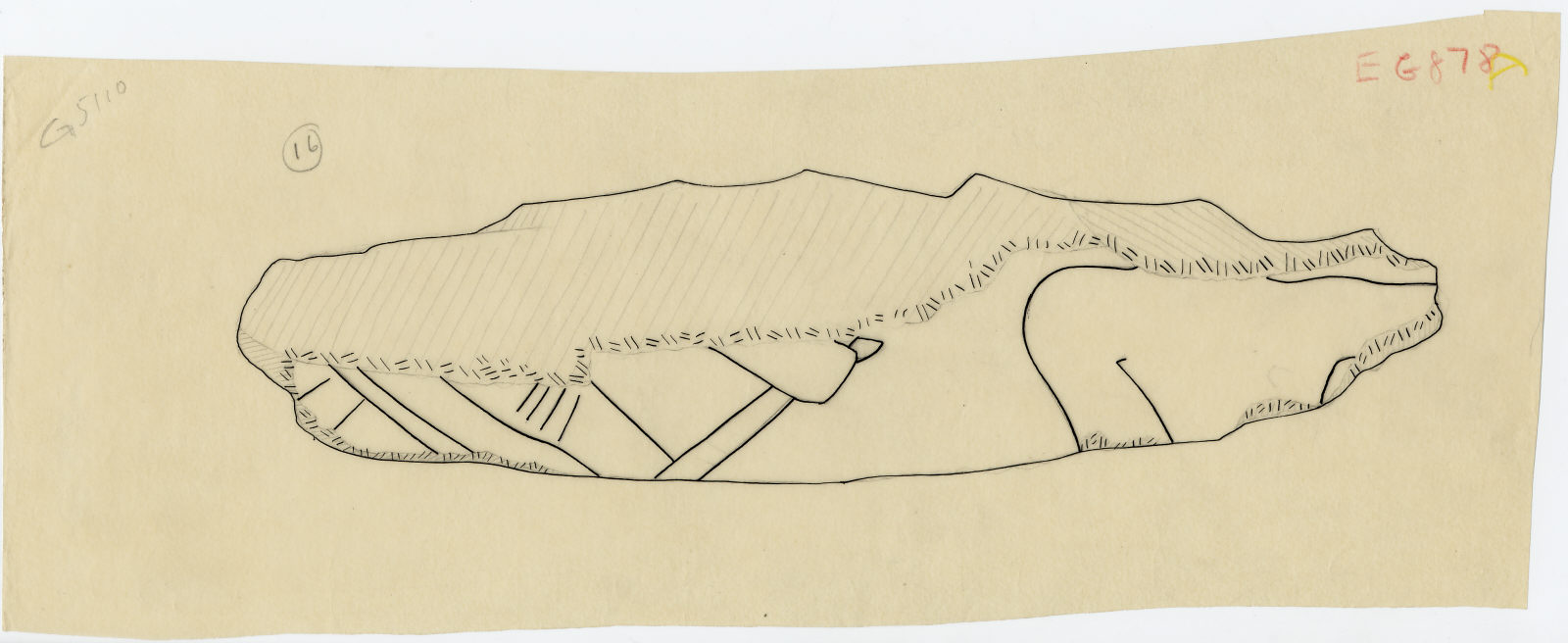 Drawings: G 5110: relief fragment 16