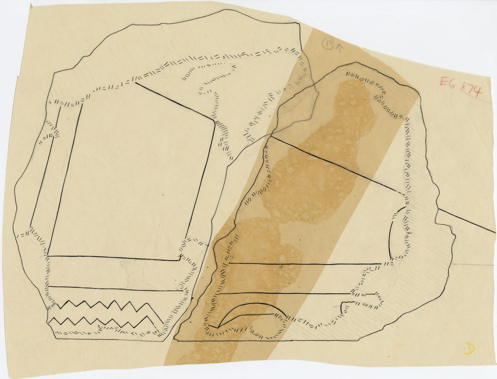 Drawings: G 5110: relief fragment 19