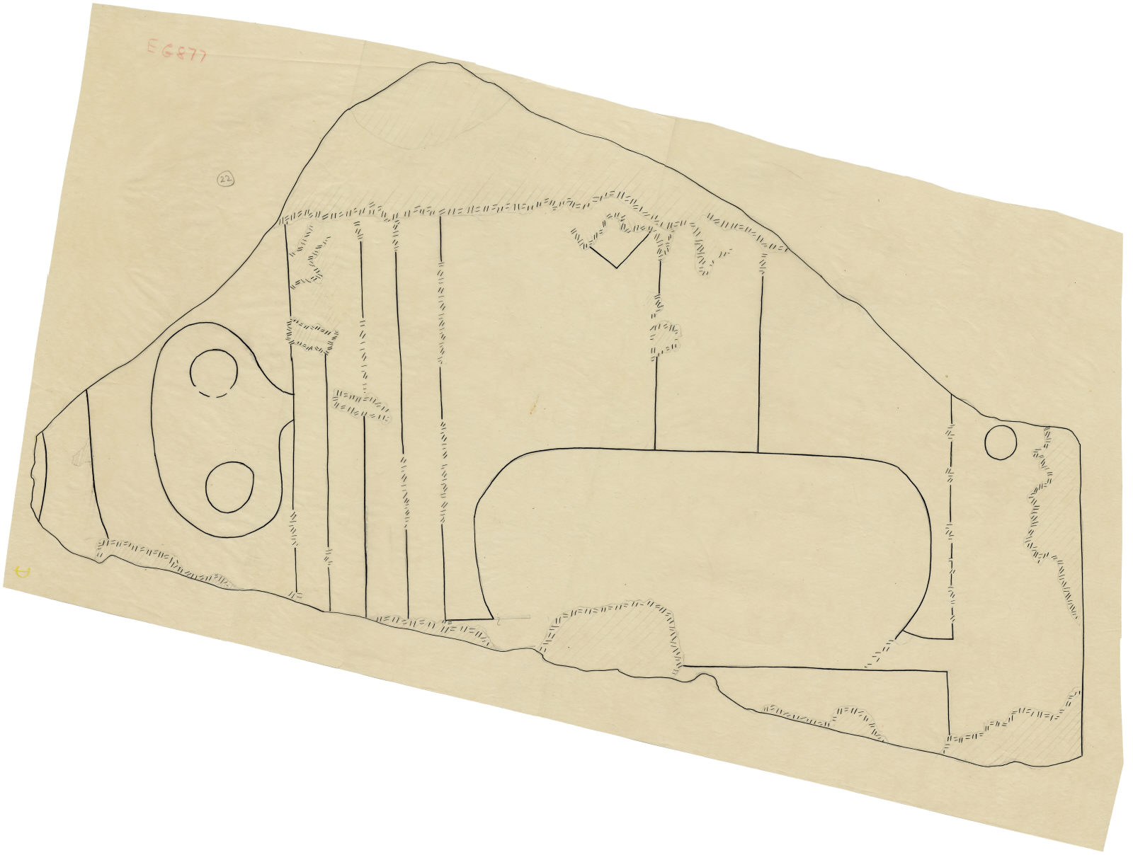 Drawings: G 5110: relief fragment 22