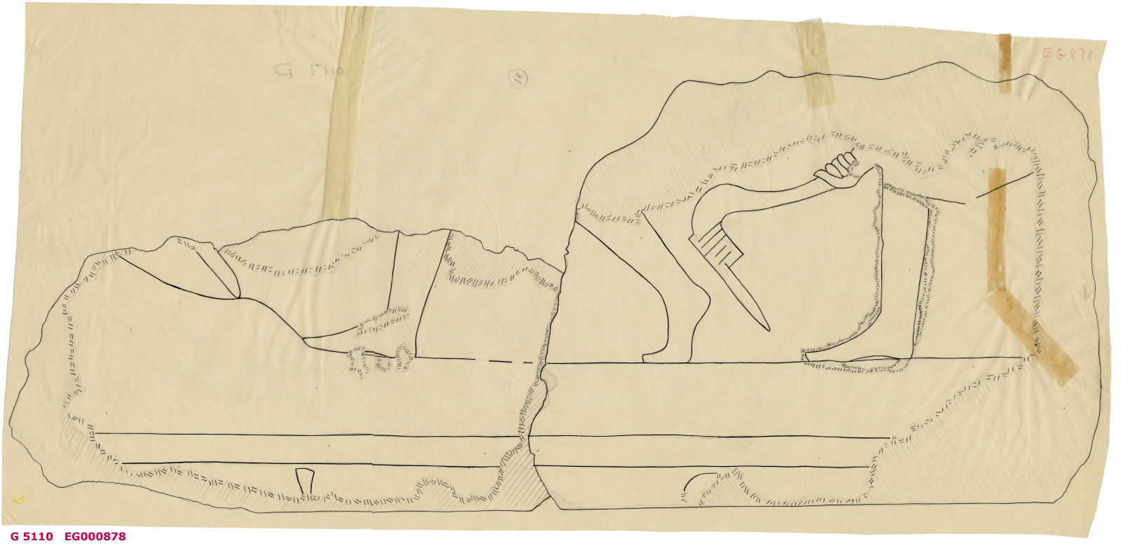 Drawings: G 5110: relief fragment 18