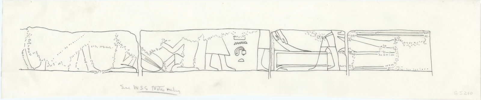 Drawings: G 5210: relief from chapel, S room, E wall