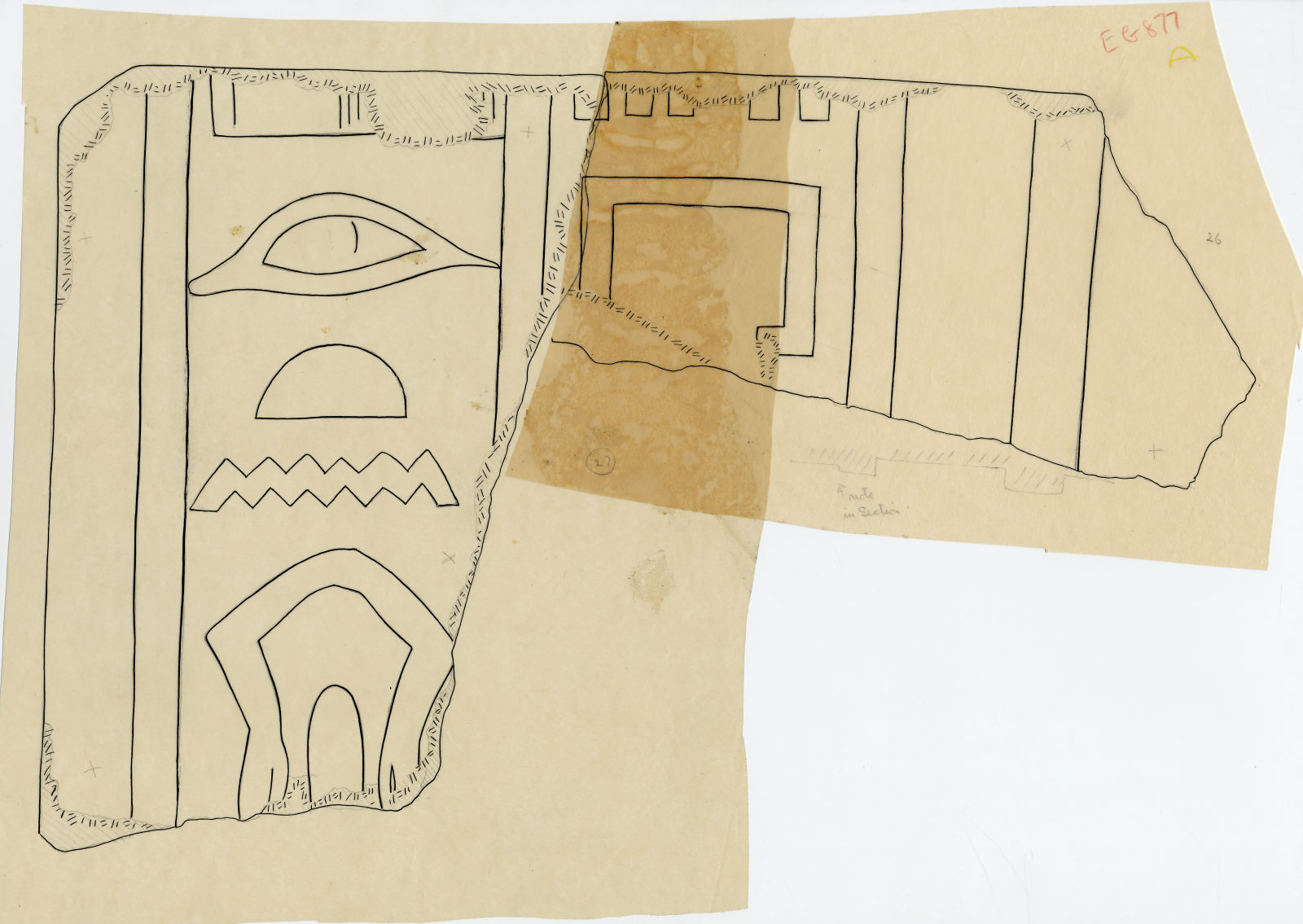 Drawings: G 5110: relief fragment 26 and 27
