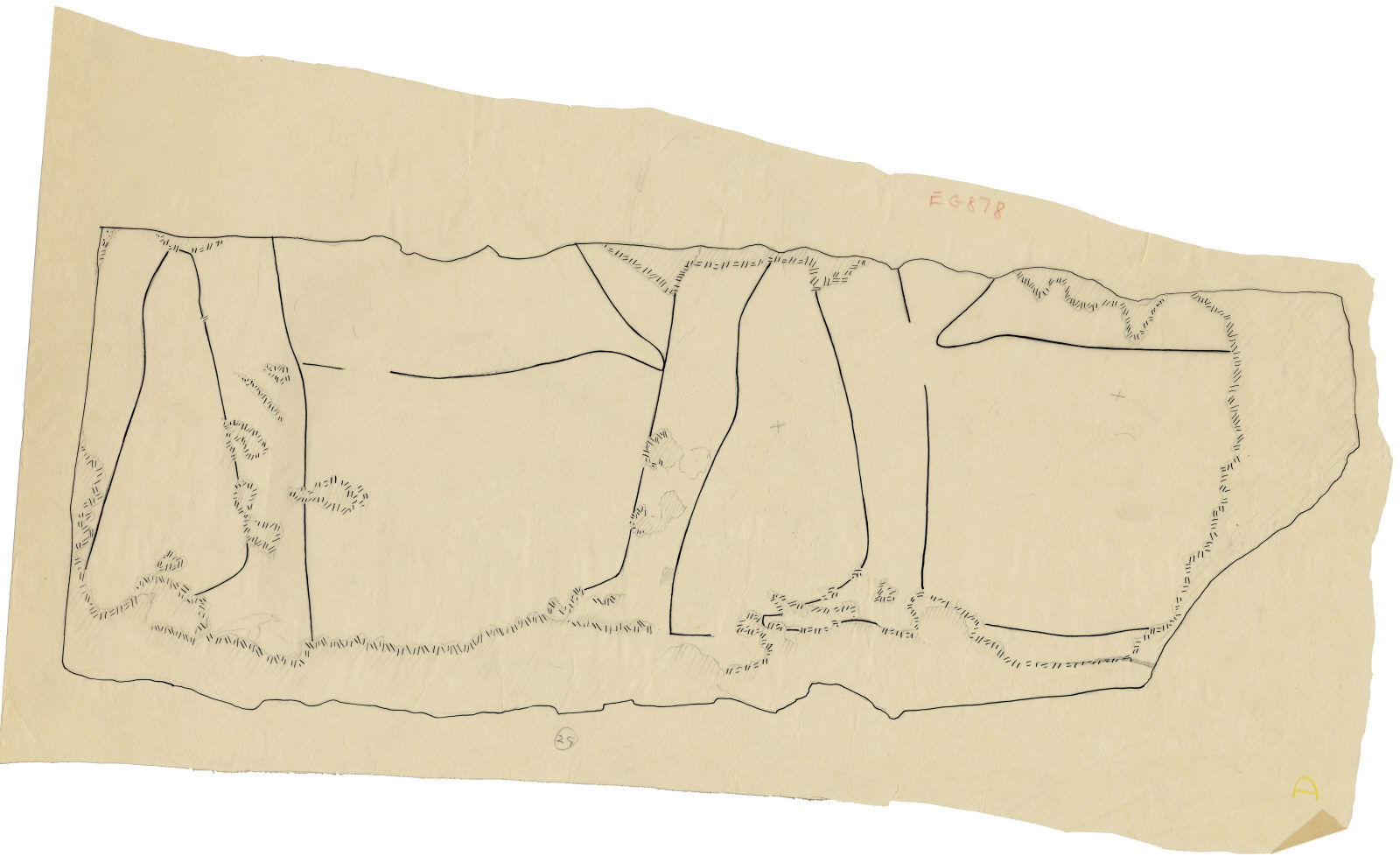 Drawings: G 5110: relief fragment 29