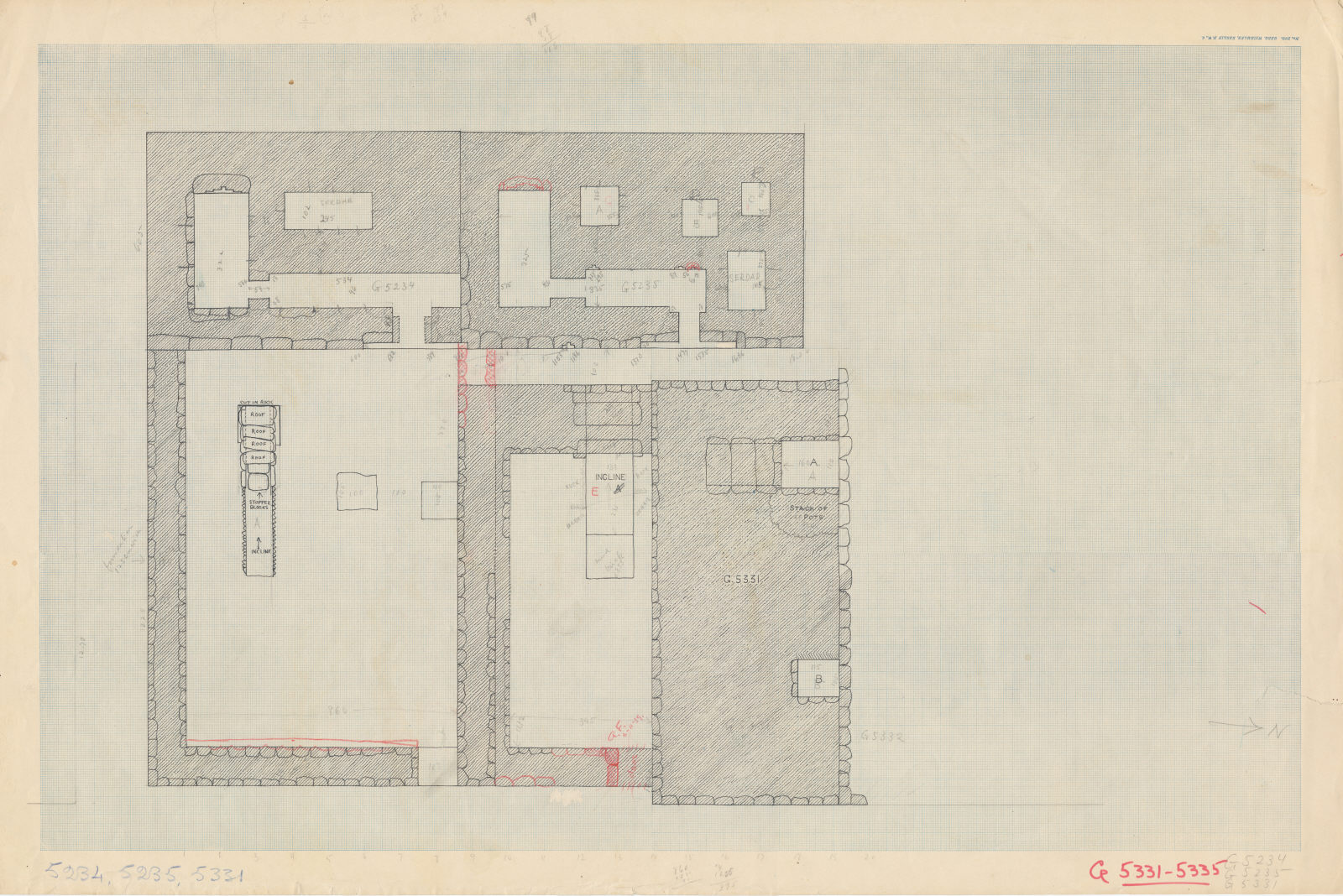 Maps and plans: Plan of G 5234, G 5235, G 5331