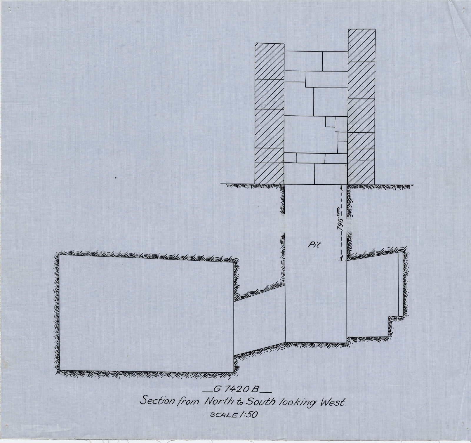 Maps and plans: G 7420, Shaft B