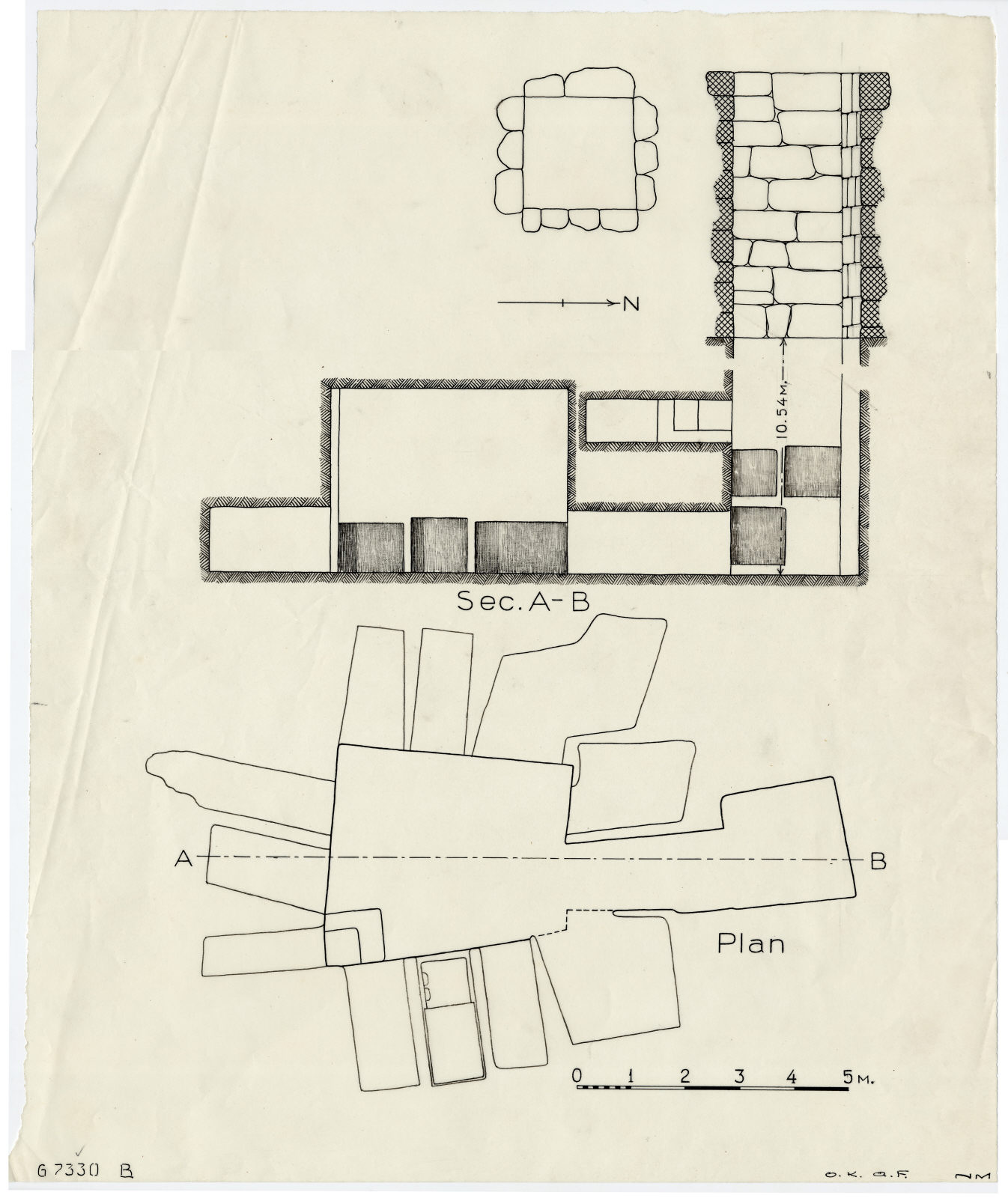 Maps and plans:  G 7330, Plan and section
